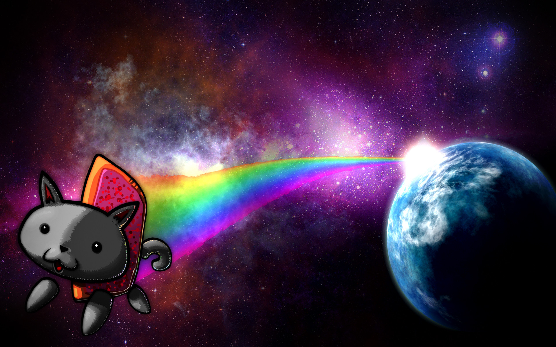 1920x1200 rainbow dash wallpaper pepness desktop nyan cat