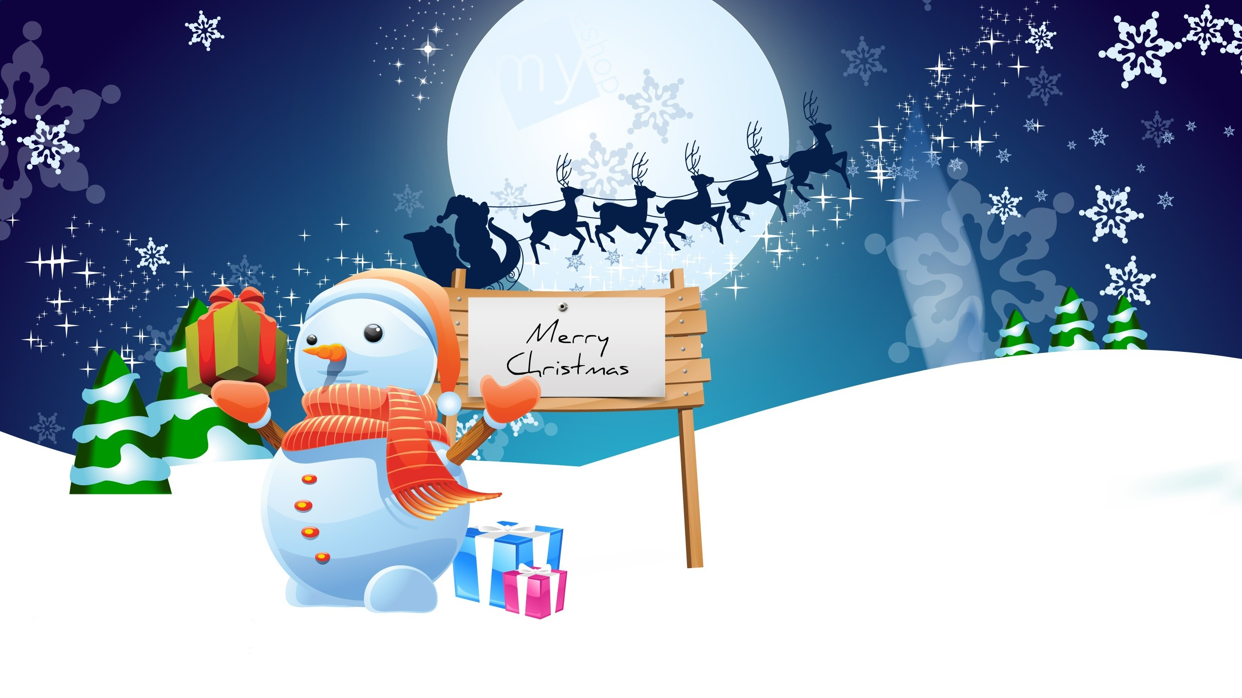 2560x1440 Animated Merry Christmas Wallpaper (18)