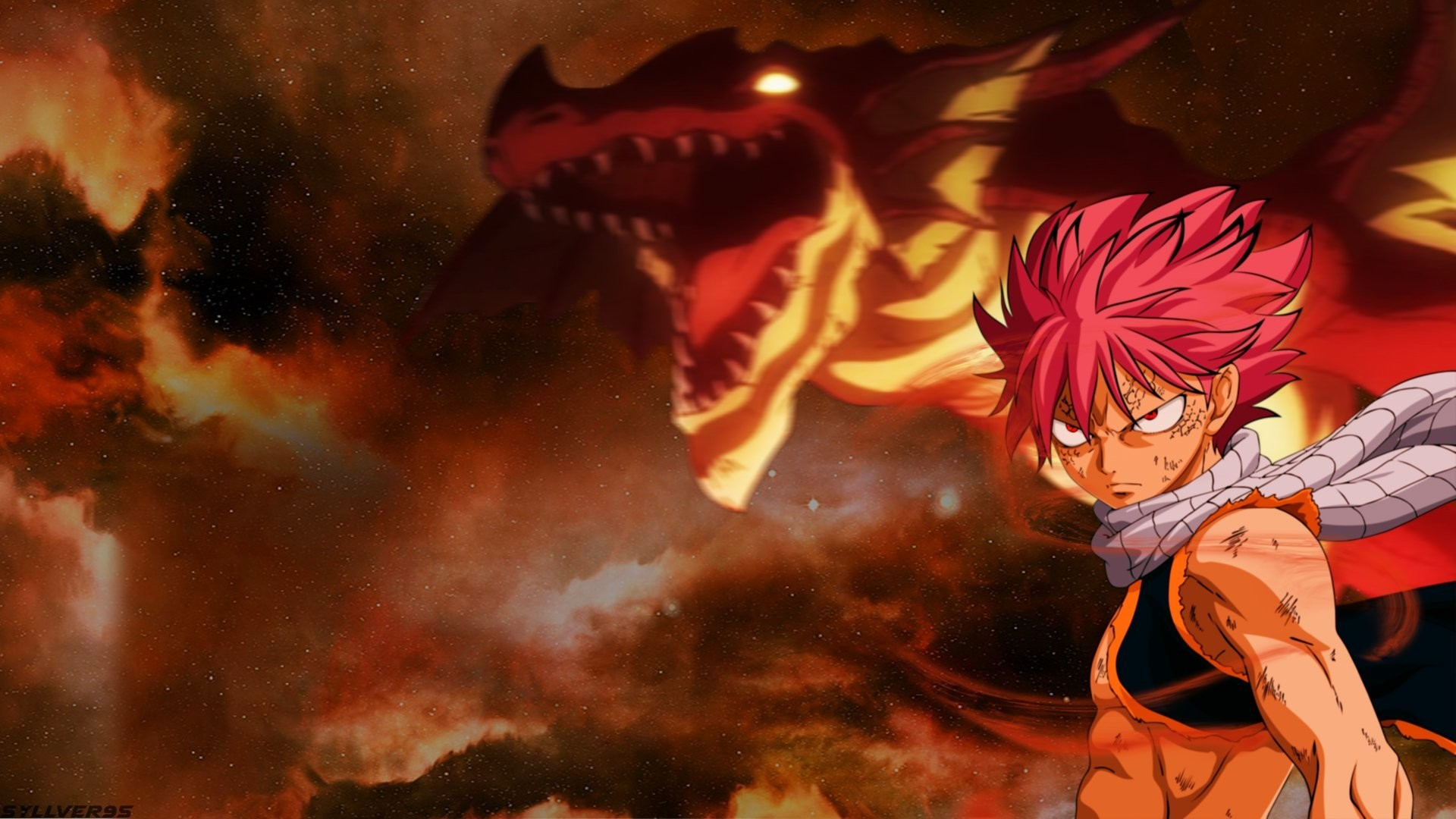 1920x1080  Anime - Fairy Tail Igneel (Fairy Tail) Natsu Dragneel Drachen  Feuer Anime Wallpaper