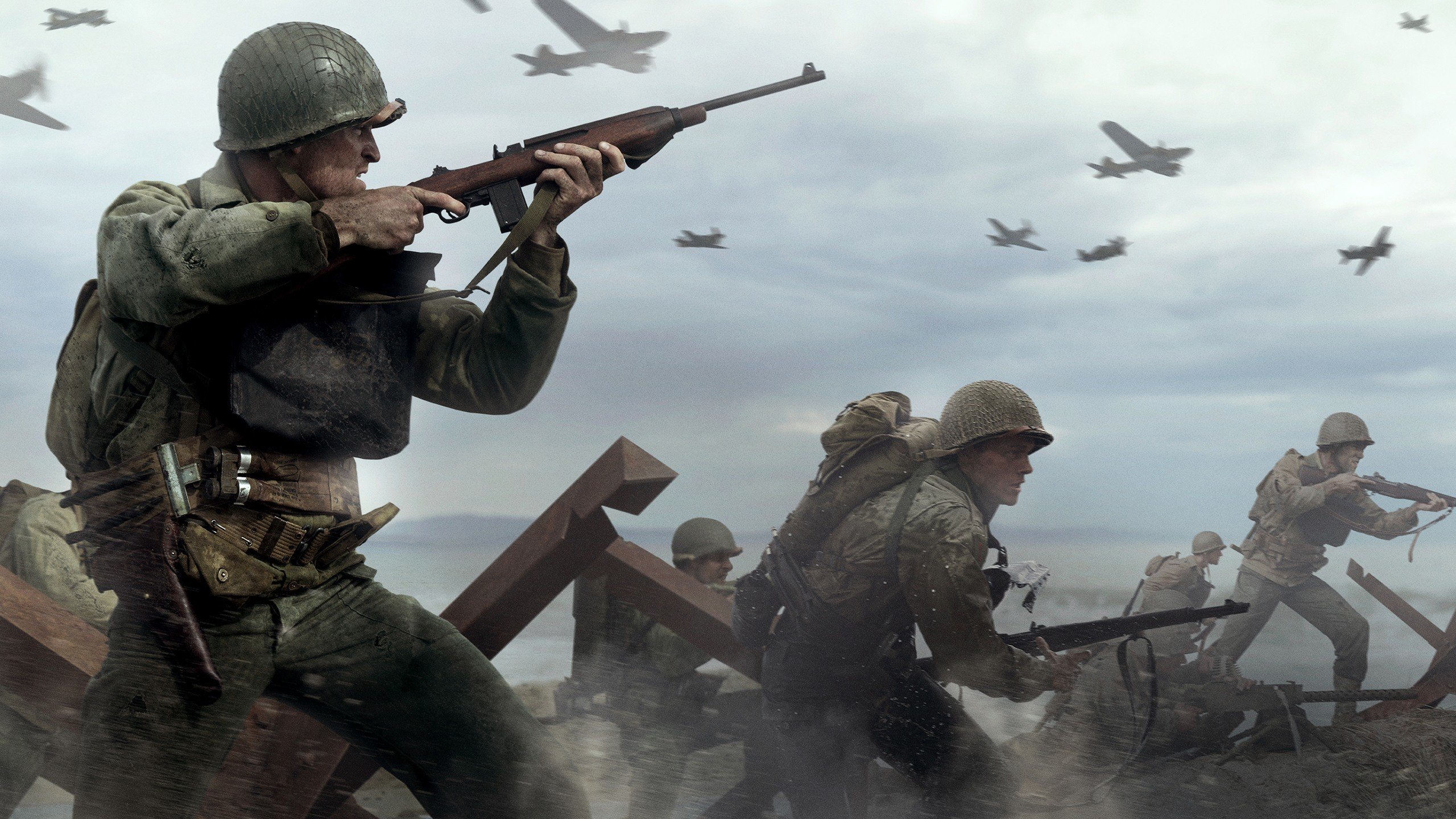 2560x1440 Awesome Call of Duty: WWII Soldiers in War wallpaper