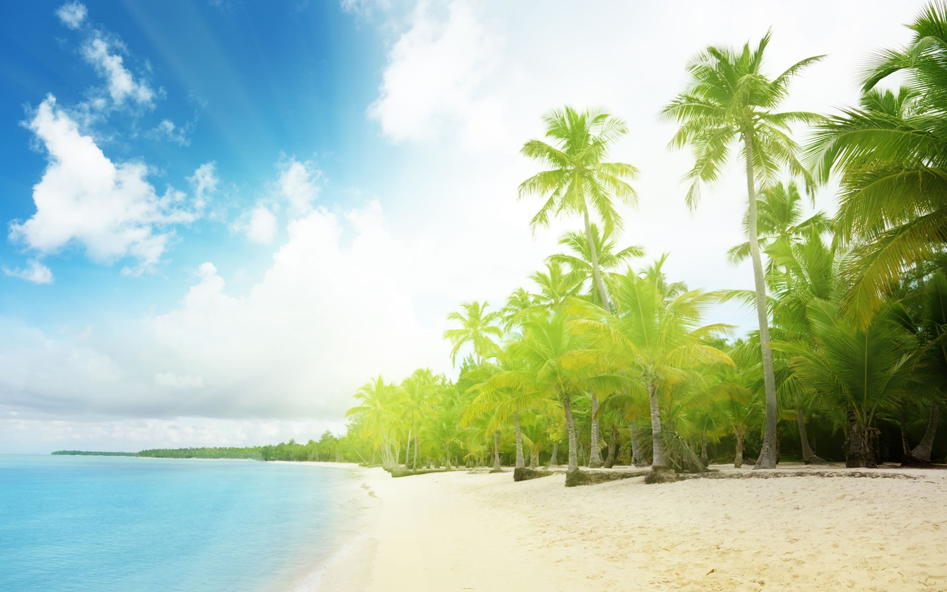 1920x1200  wallpapers nature landscape sunny beach wallpaper background  wallpaper .