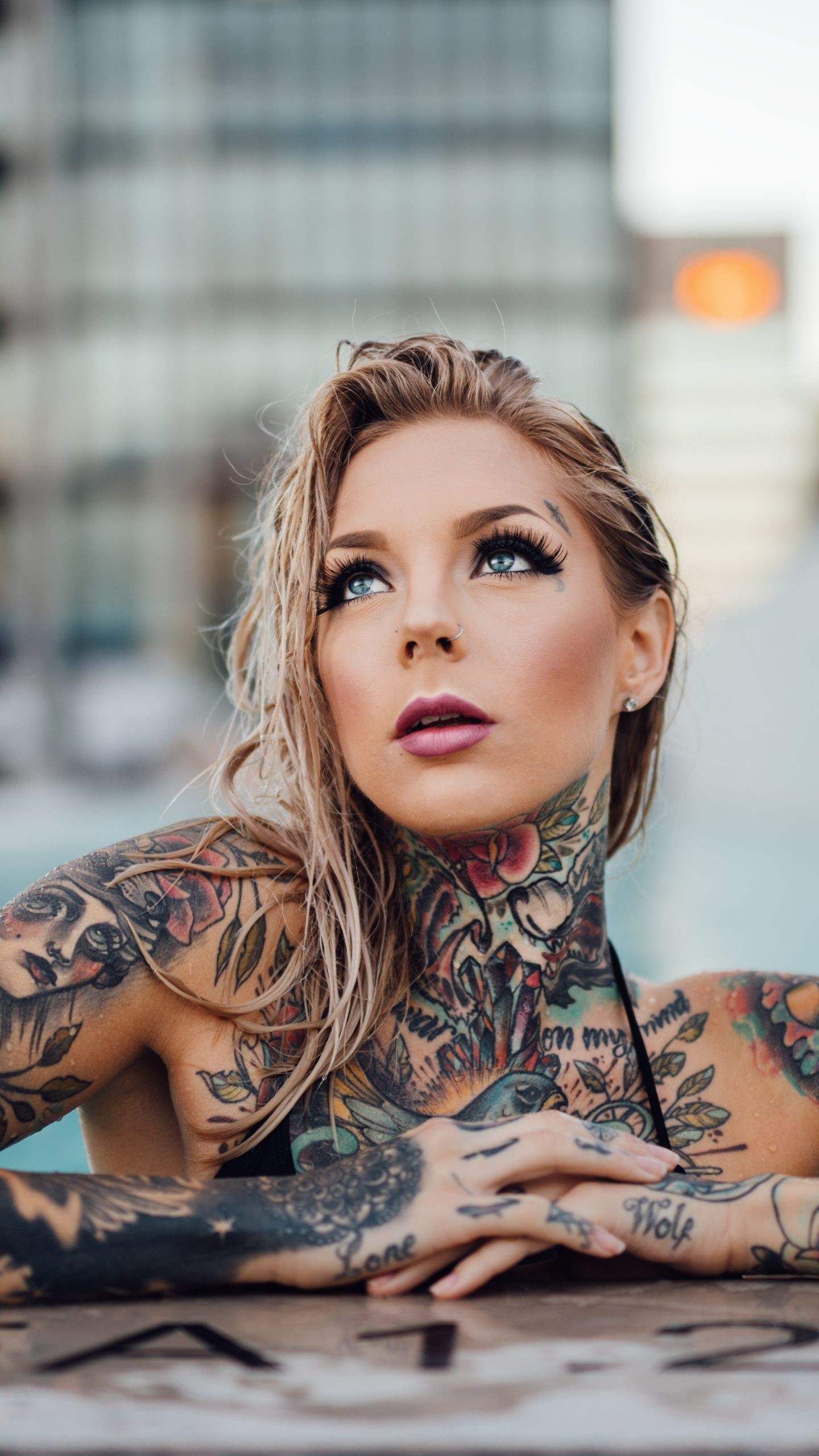 1440x2560 Supreme Iphone Wallpaper, Tattoo Girl Wallpaper, Wall Wallpaper, Tattoos  For Women, Girl