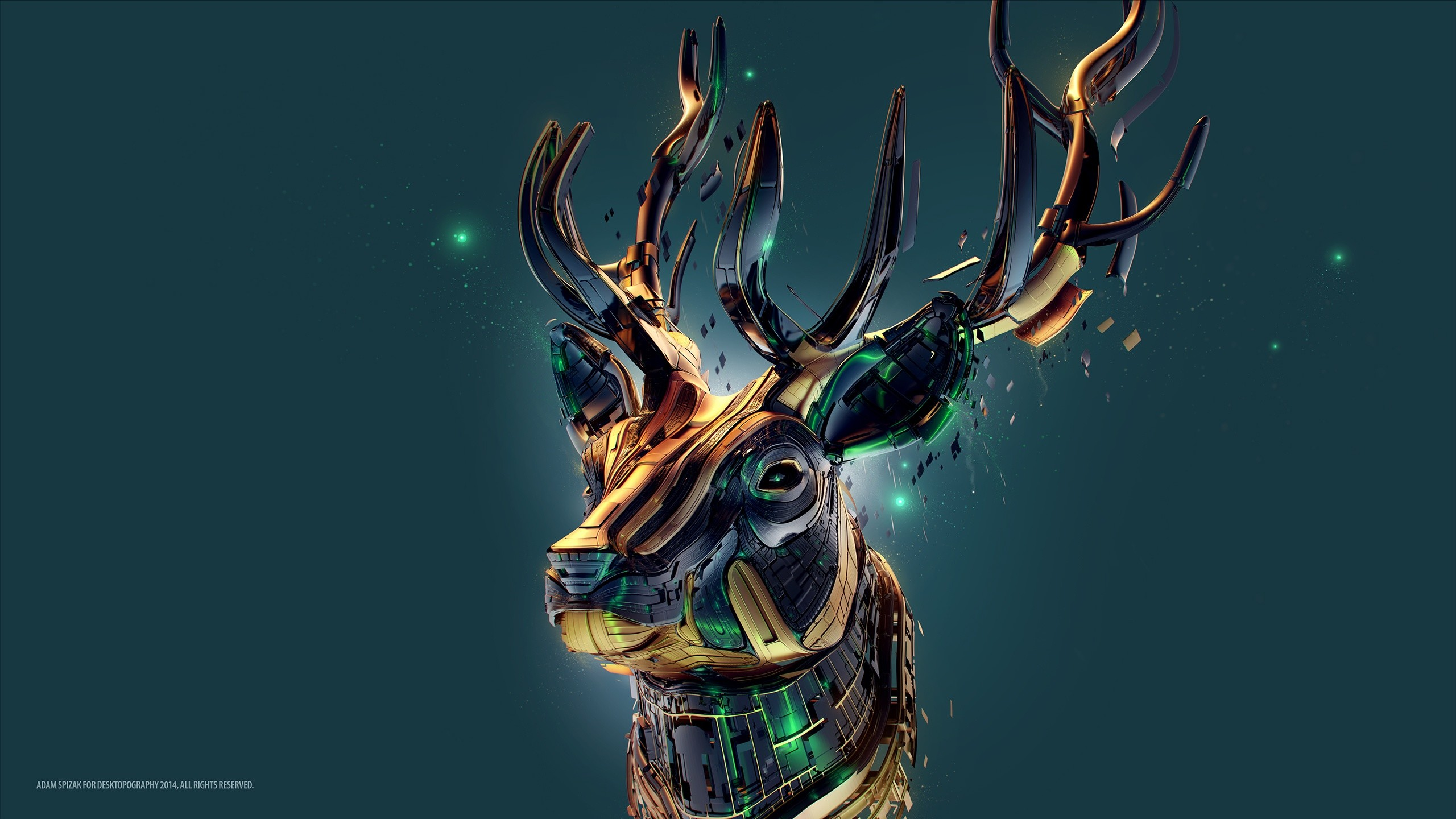 Cool deer wallpapers 53 images for Sfondi 2560x1440