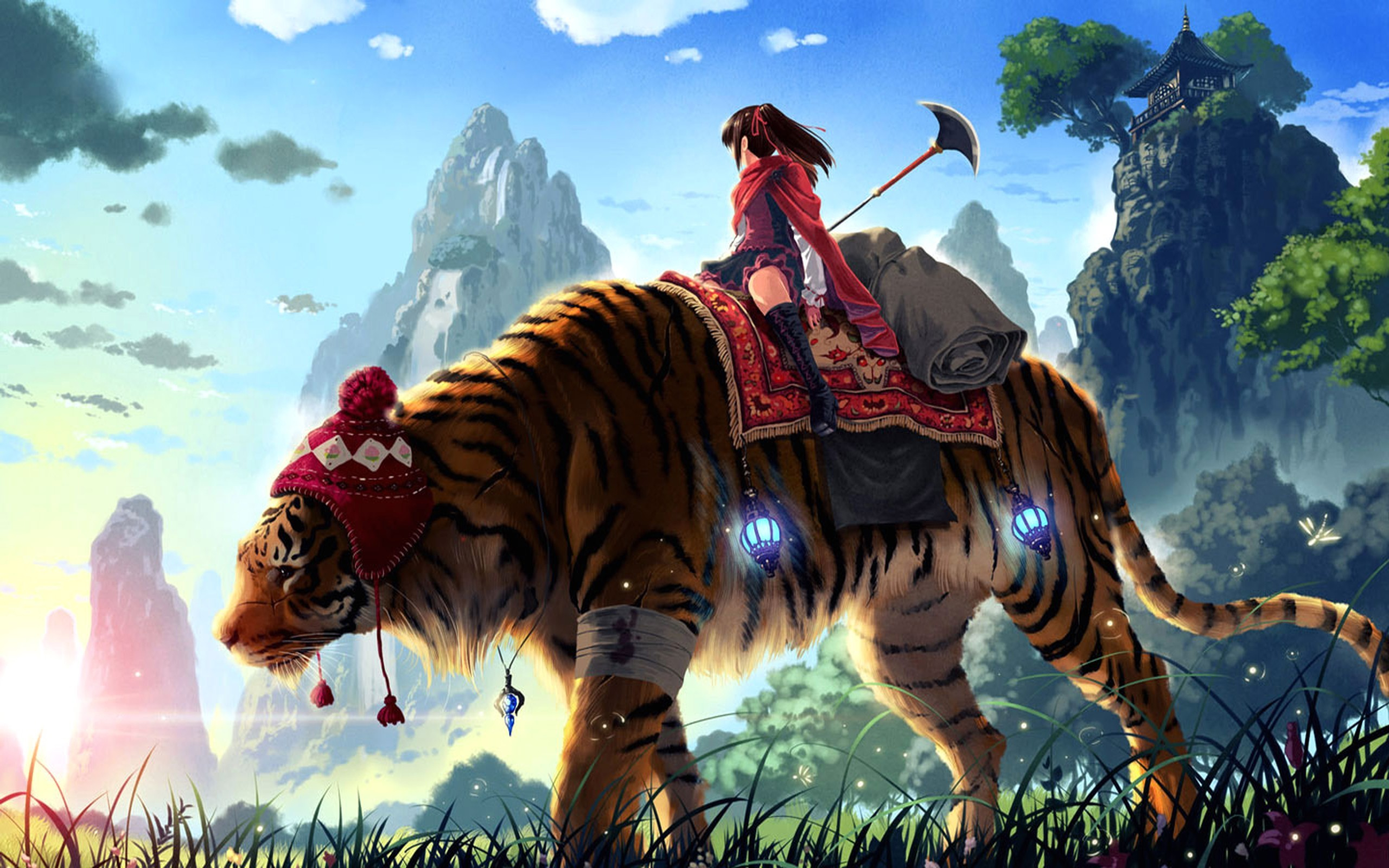 2560x1440 D Animated Tiger Wallpapers Wallpaper HD K 2560A 1440
