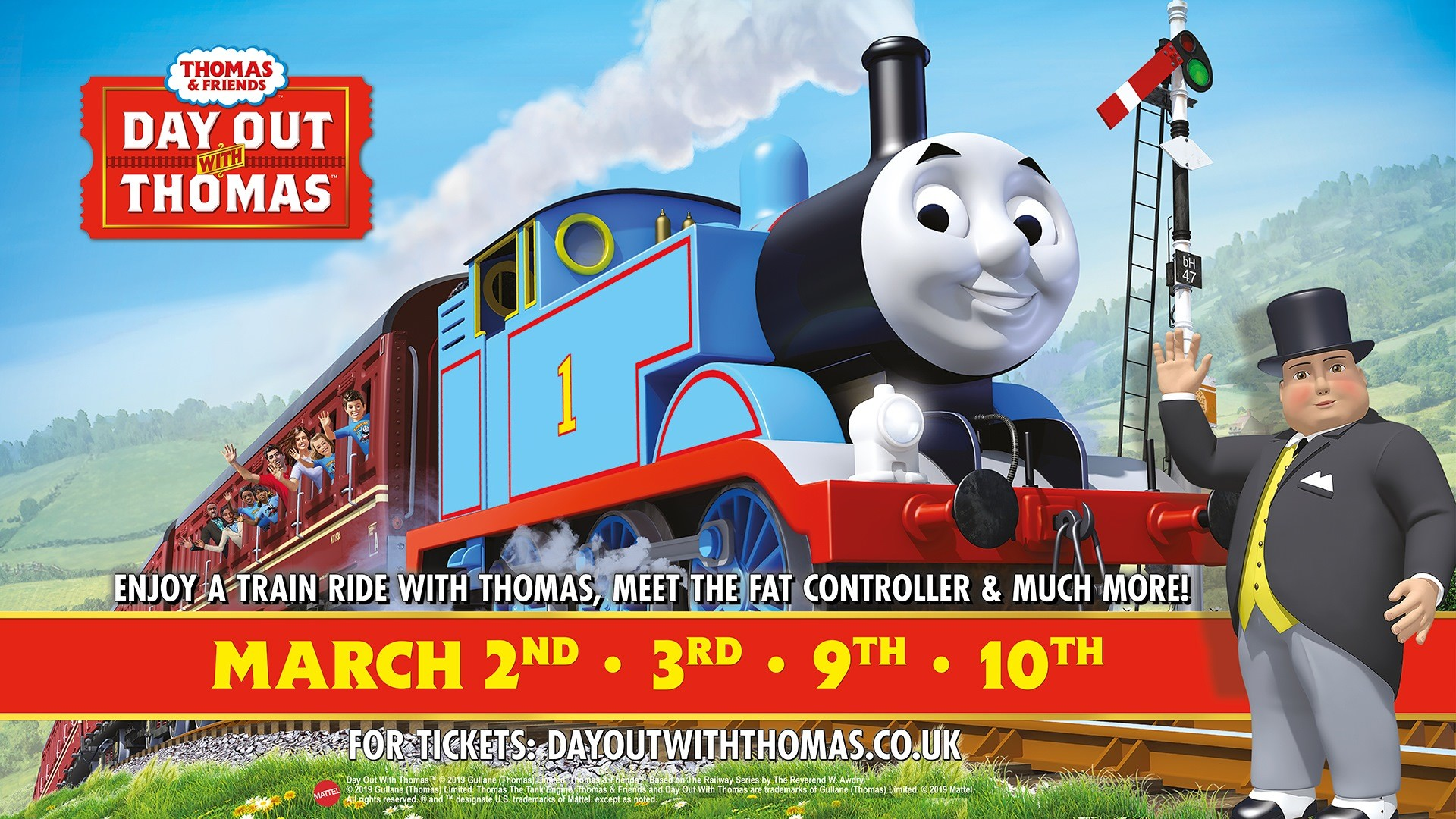 1920x1080 2019 - Tickets now available - A Day Out With Thomas at the K&ESR
