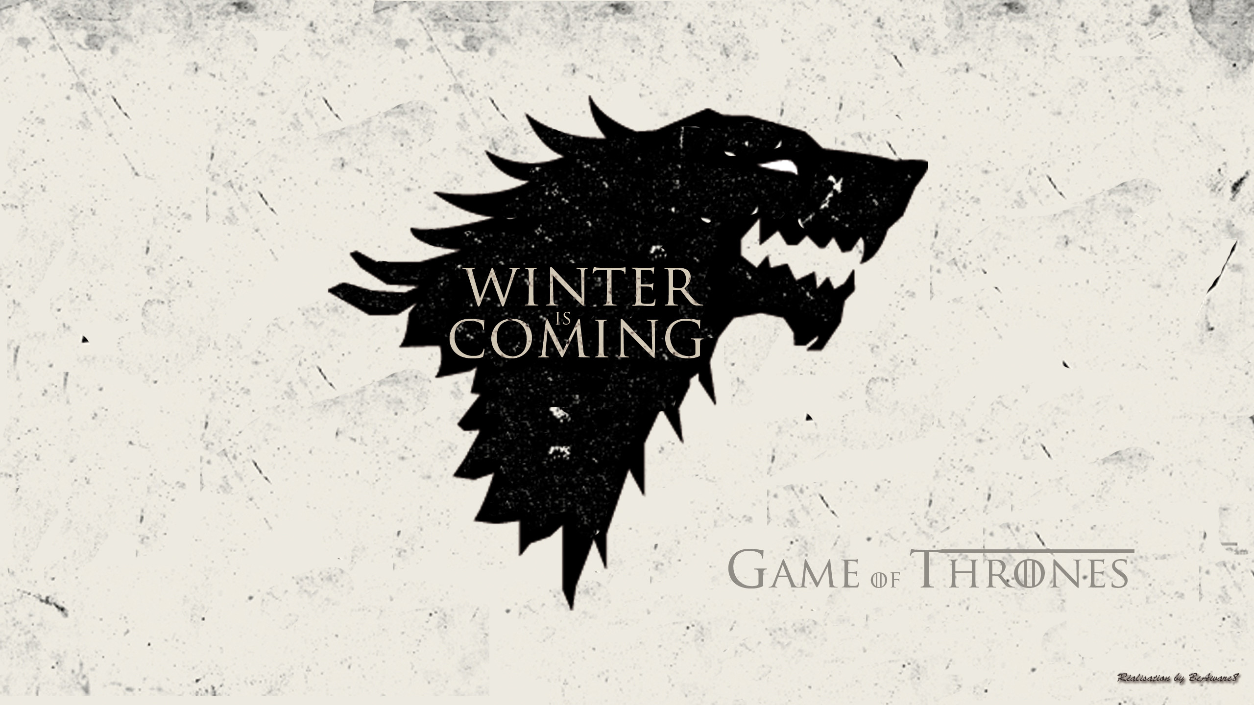 2560x1440 ... Game Of Thrones Wallpaper Wolf Stark by BeAware8