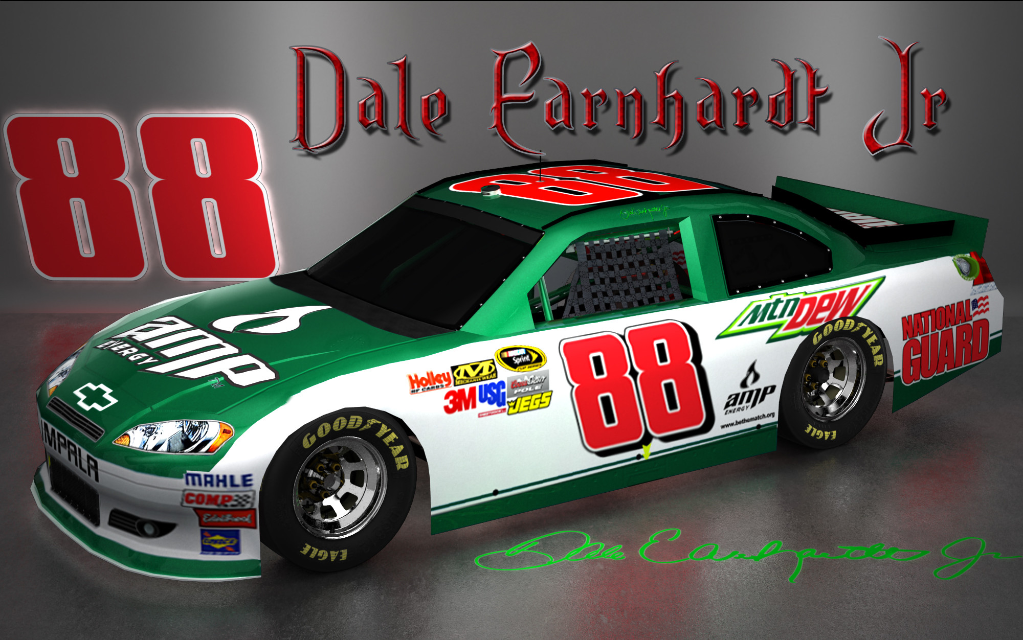 2000x1252 Dale Earnhardt Jr NASCAR Signature Wallpaper