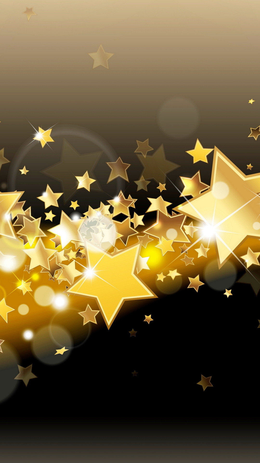 1080x1920 sparkle, golden, stars, gold, shine, glow, glitter, background,