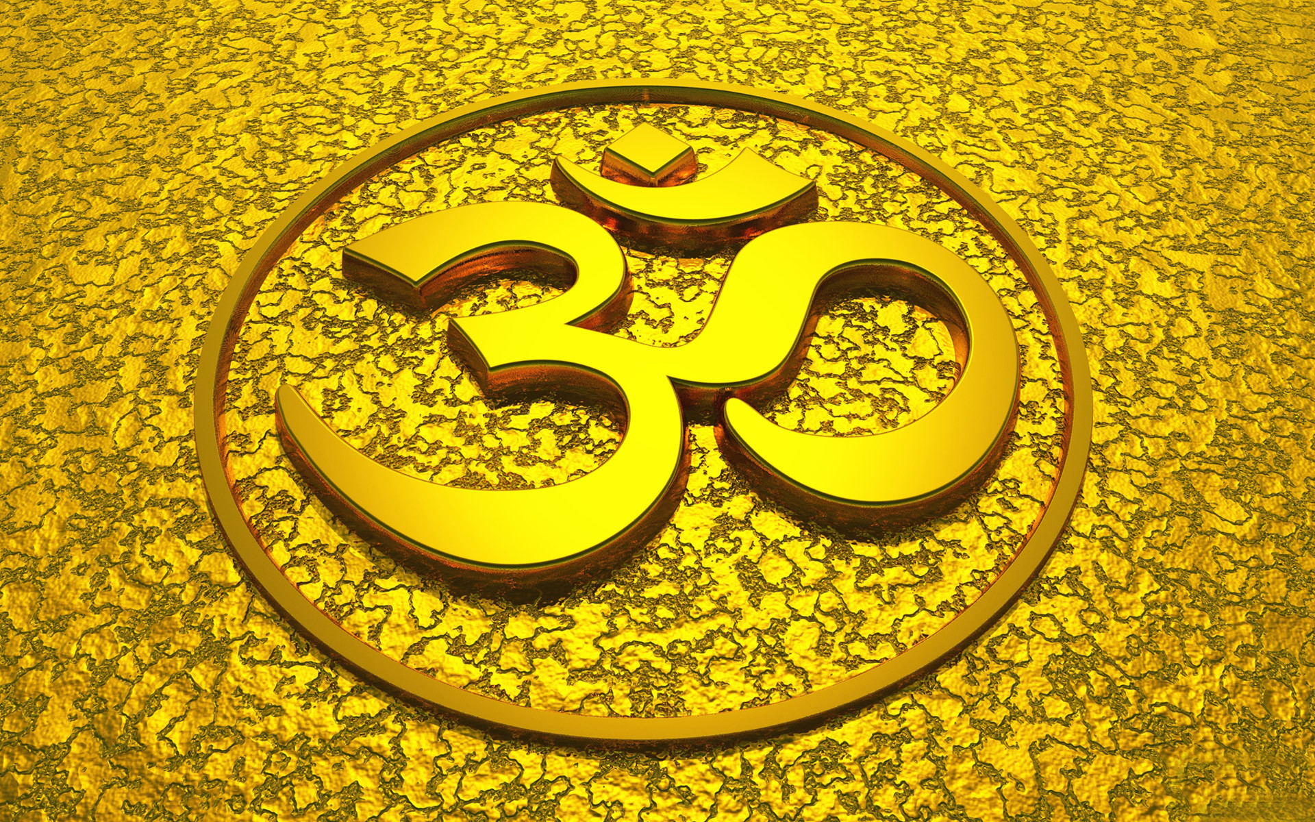 1920x1200 Sacred Hindu symbol made up of ancient Sanskrit letters...pronounced aum or  om