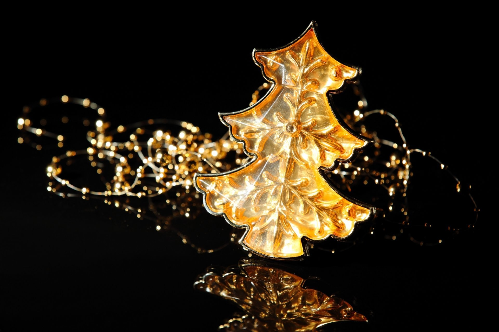 1920x1280 Black background with glitter gold Christmas ball Vector Image .