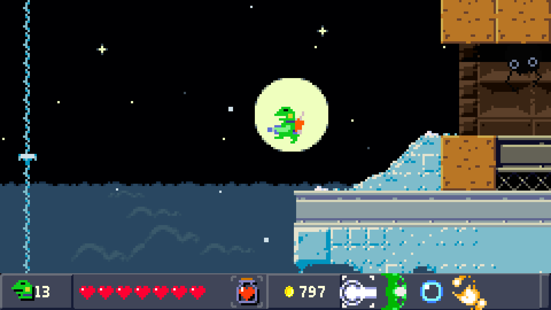 1920x1080 From the moment you load Kero Blaster, you assume the role of a be-necktied  frog clutching a laser gun. The title screen itself is a self-contained  stage, ...