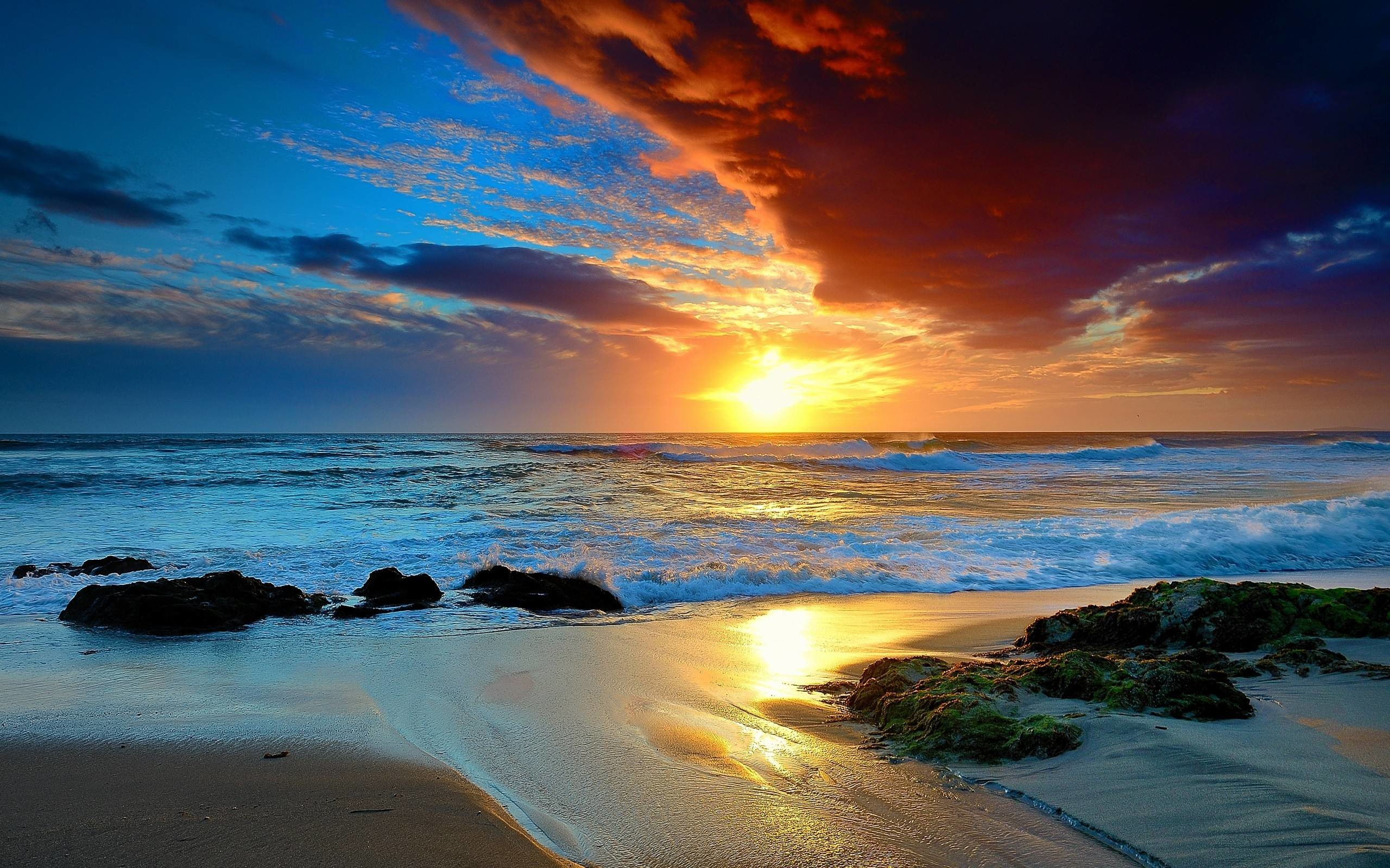 Beach Sunset Wallpaper 79 Images