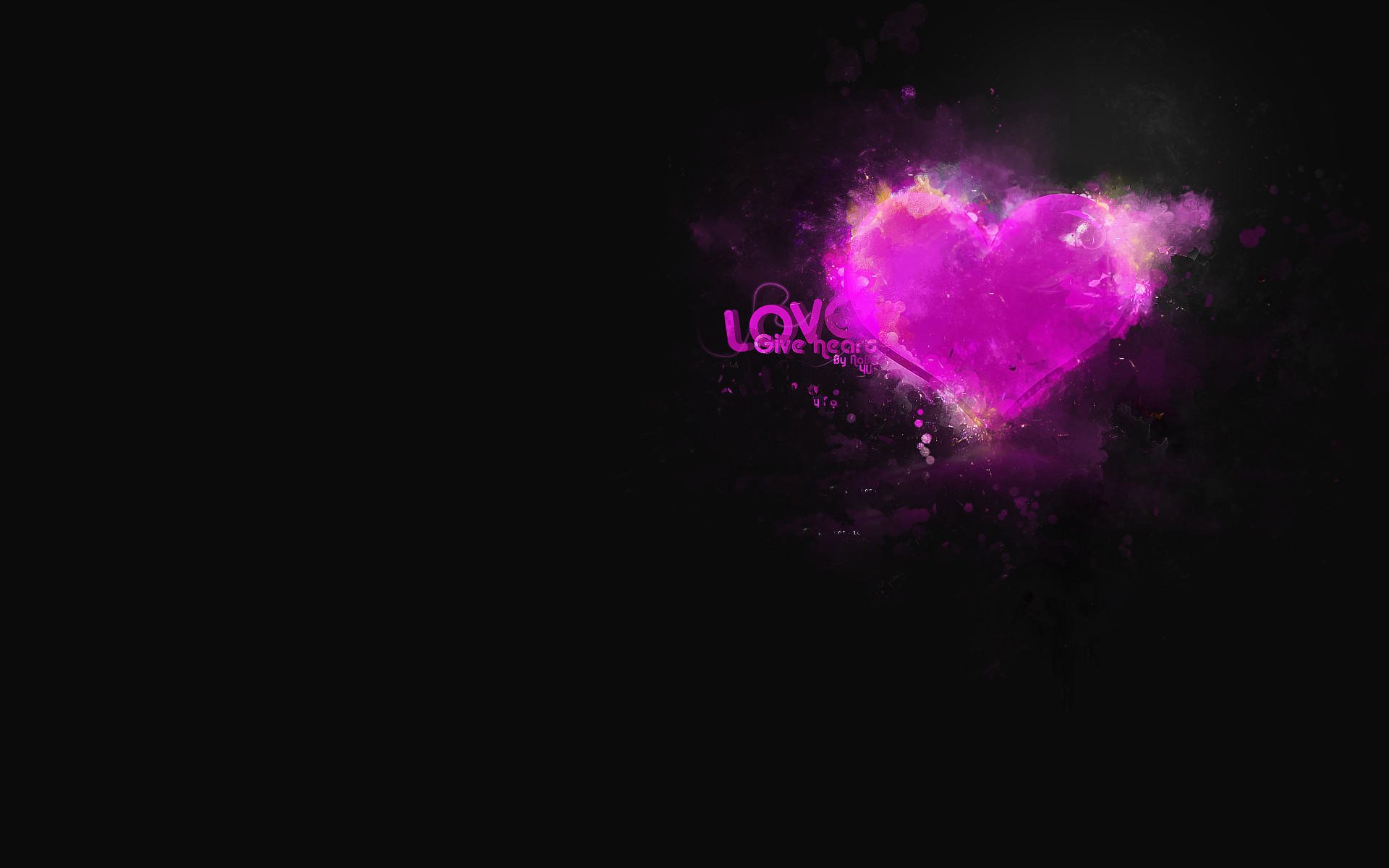 1920x1200 Love Background Black - HDWallie - HD Wallpapers
