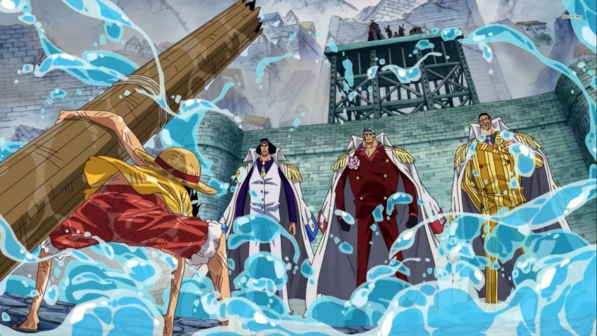1920x1080 One Piece images Luffy & 3 Admirals HD wallpaper and background photos