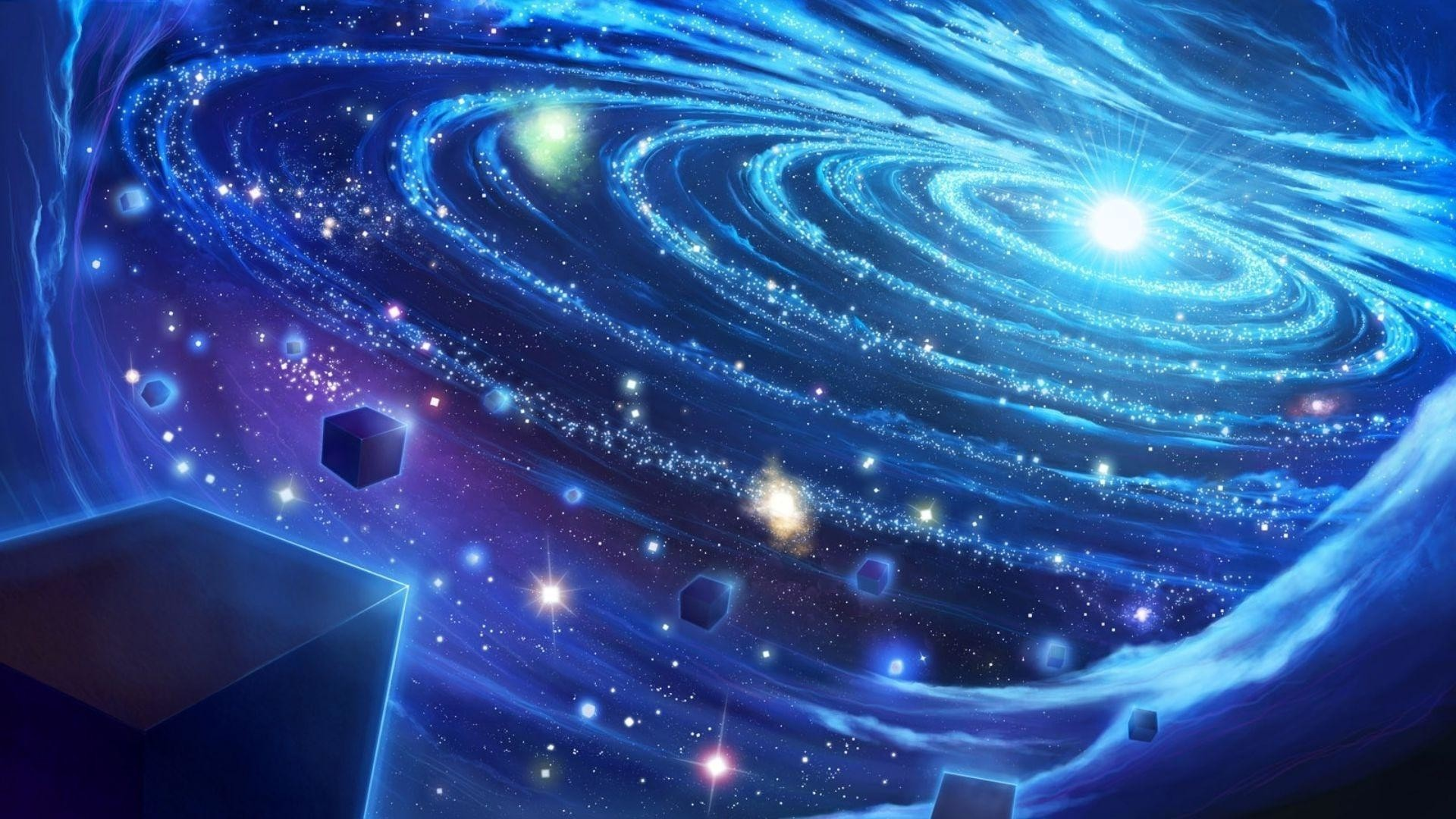 1920x1080 Light In The Blue Galaxy Wallpaper Space Wallpapers