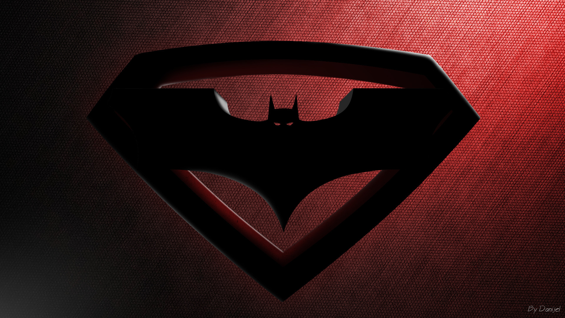 1920x1080 Movie - Batman v Superman: Dawn of Justice Superman Batman Logo Steel  Wallpaper