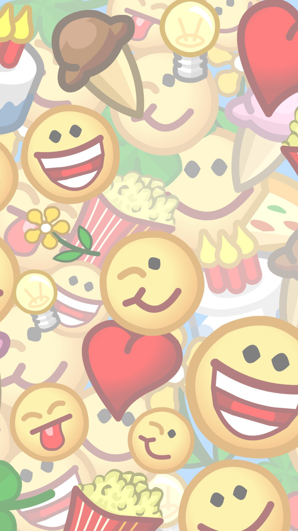 1242x2208 Emojis Pop Art Android Animation Wallpapers Iphone 7 Life