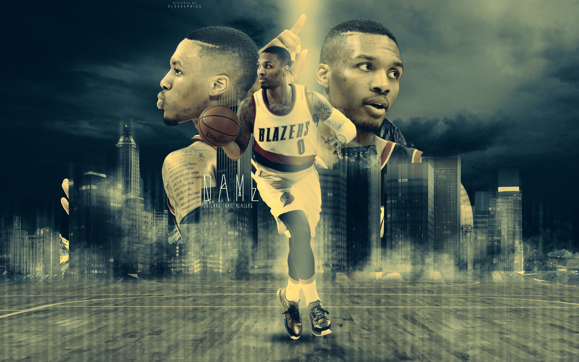 1920x1200 Damian Lillard Trail Blazers 2015 Wallpaper