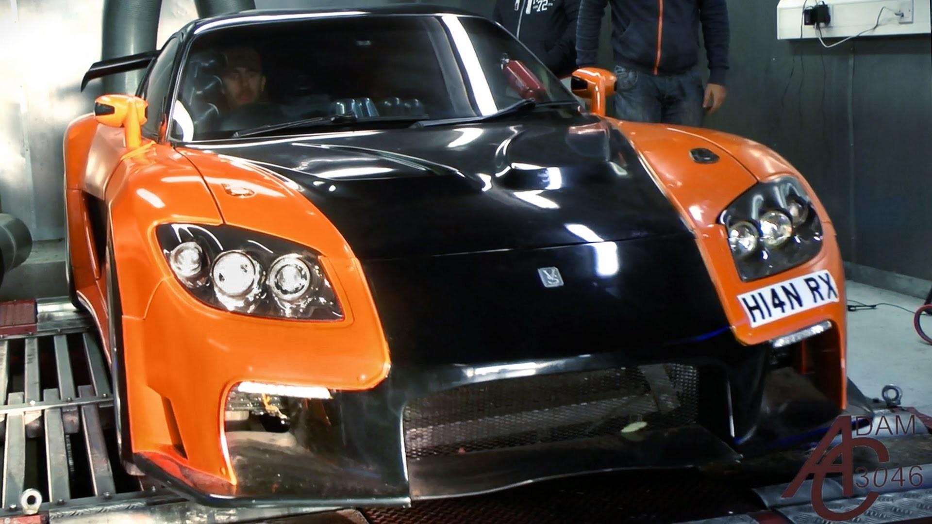 Mazda RX7 VeilSide JDM Front Fire Car 2015 Wallpapers El Tony Cars