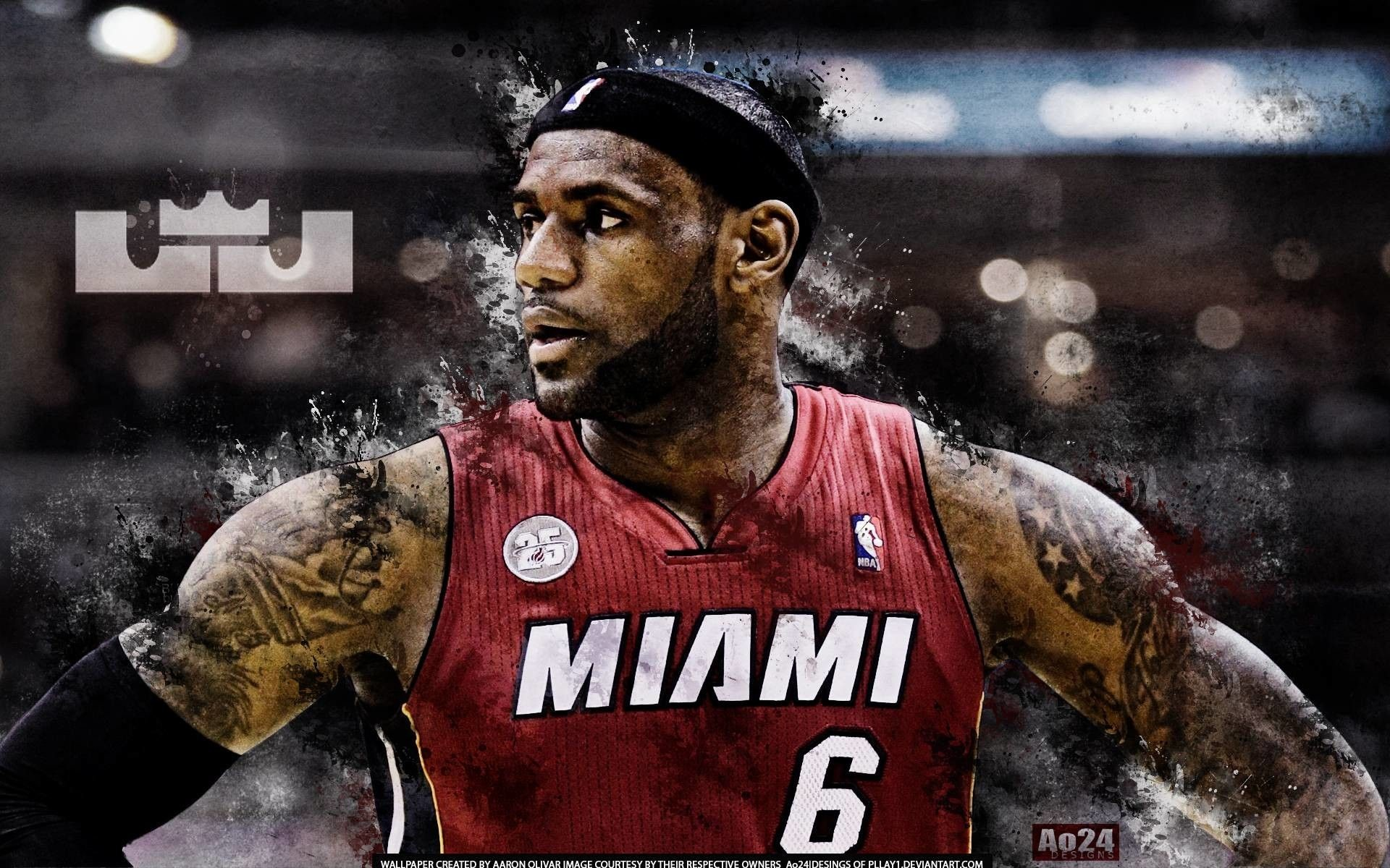 1920x1200 Lebron James Wallpaper HD Heat ·①