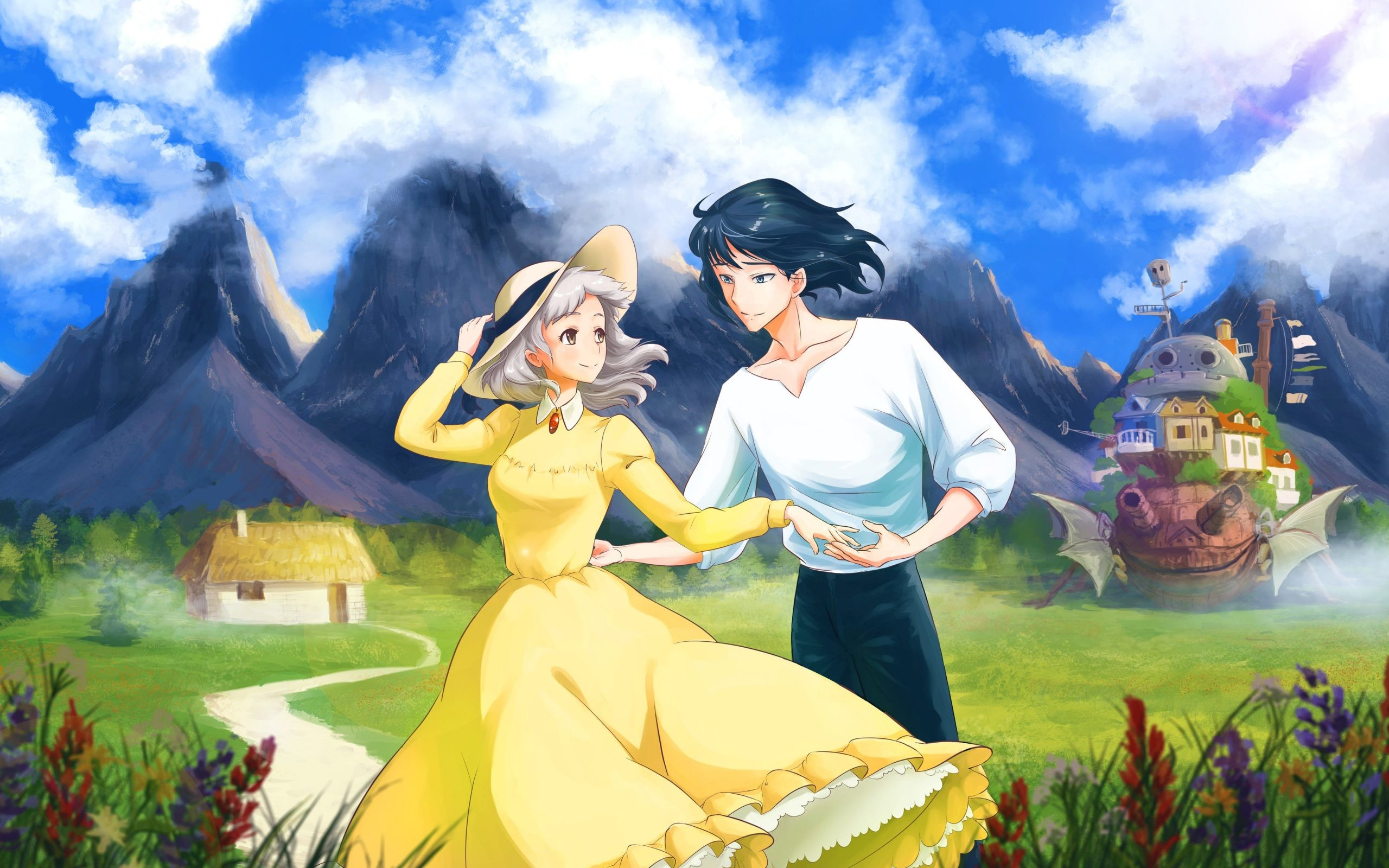 2560x1600 ... howl s moving castle sophie hatter and prince justin hd wallpaper ...