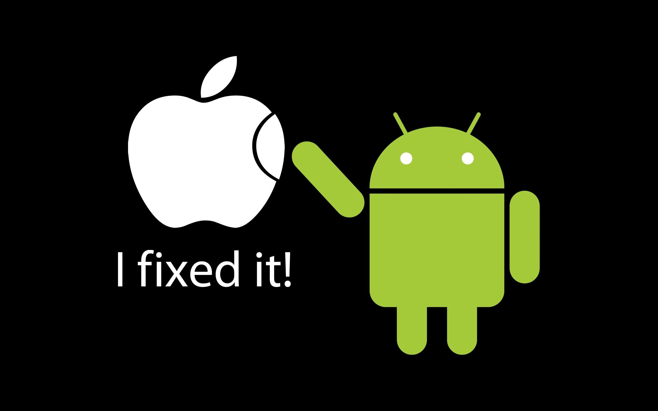 2560x1600 funny wallpapers apple vs android Funny wallpaper for your desktop and  mobile tablet.