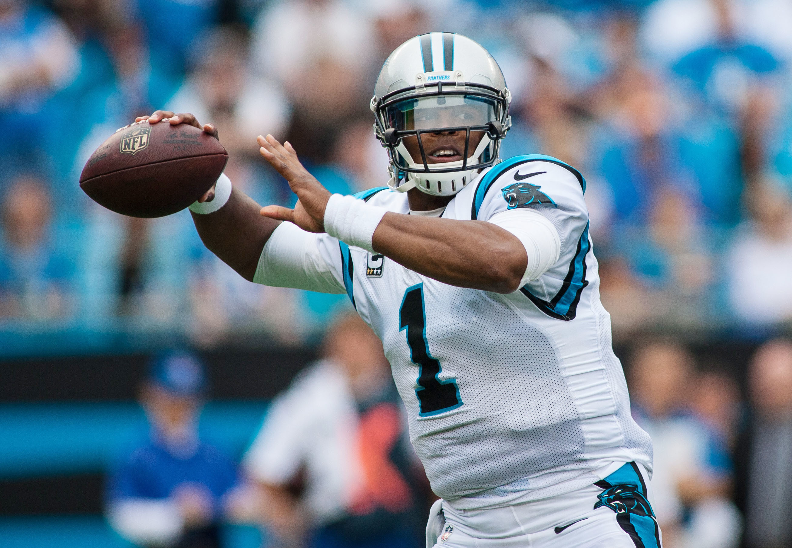 2616x1811 Wallpaper Cam newton, Carolina panthers, American football