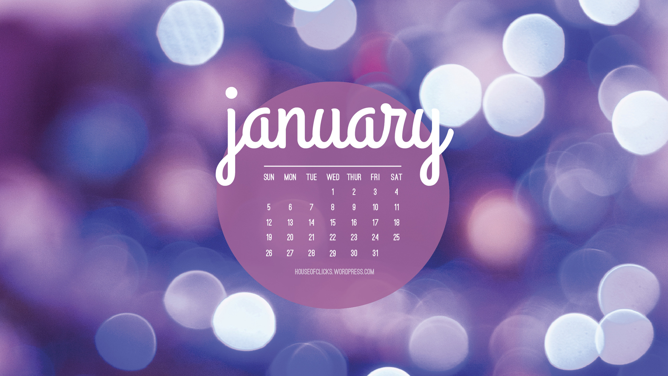 January Calendar 2018 Wallpaper | 2018 January Calendar