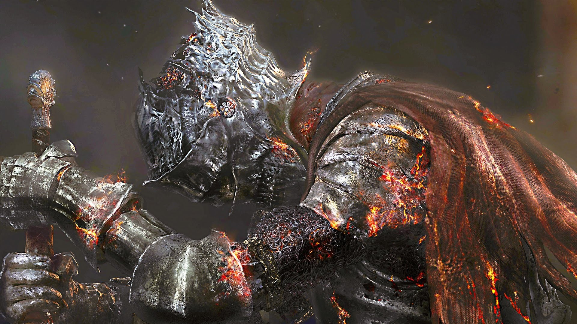1920x1080 Preview wallpaper dark souls 3, art, warrior