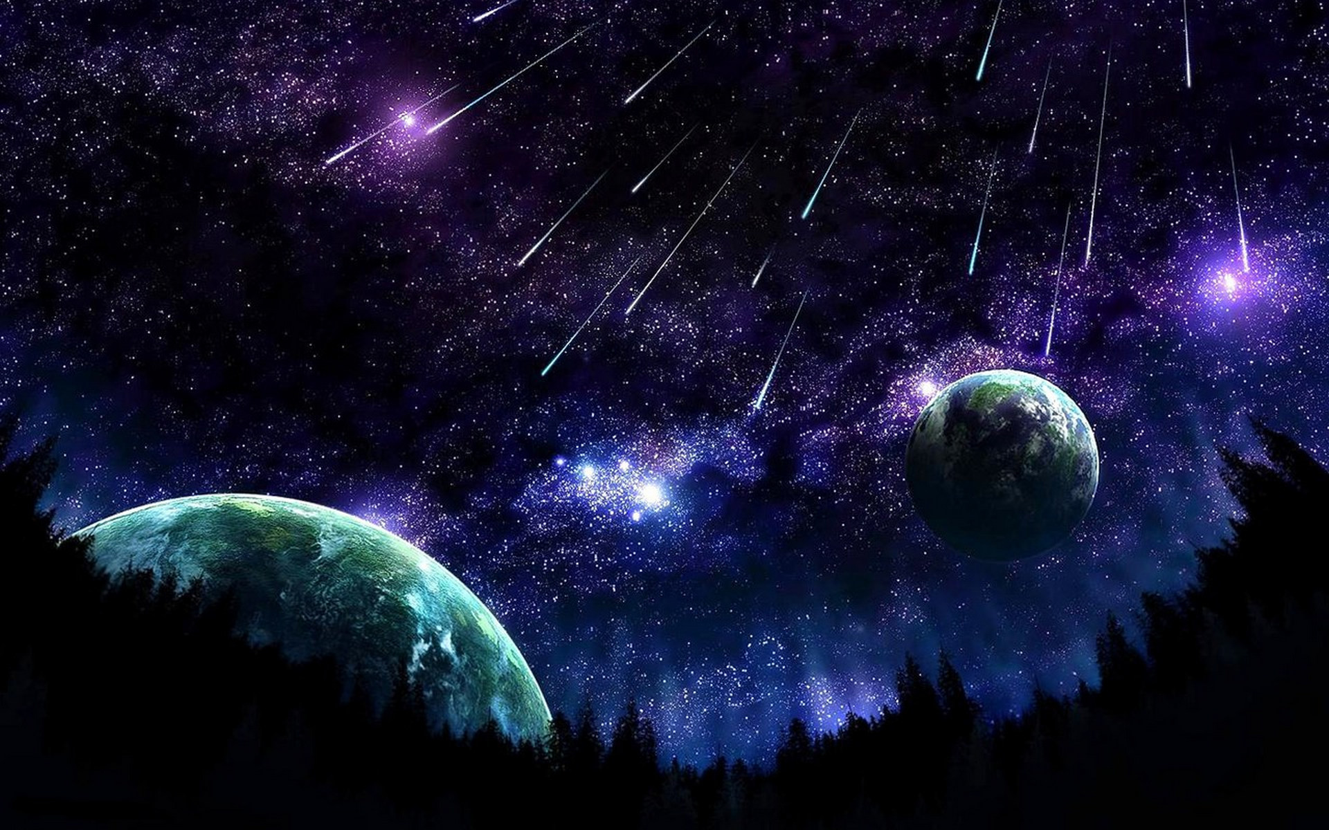 1920x1200 Free desktop wallpapers and backgrounds with meteor shower, cosmos, planet,  space, universe. Wallpapers no.