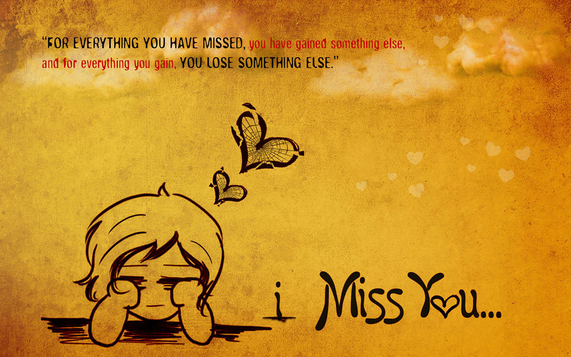 1920x1200 miss you wallpaper