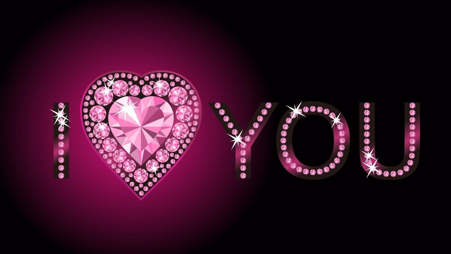 2560x1440 Wallpaper Pink Heart Love Blue Light