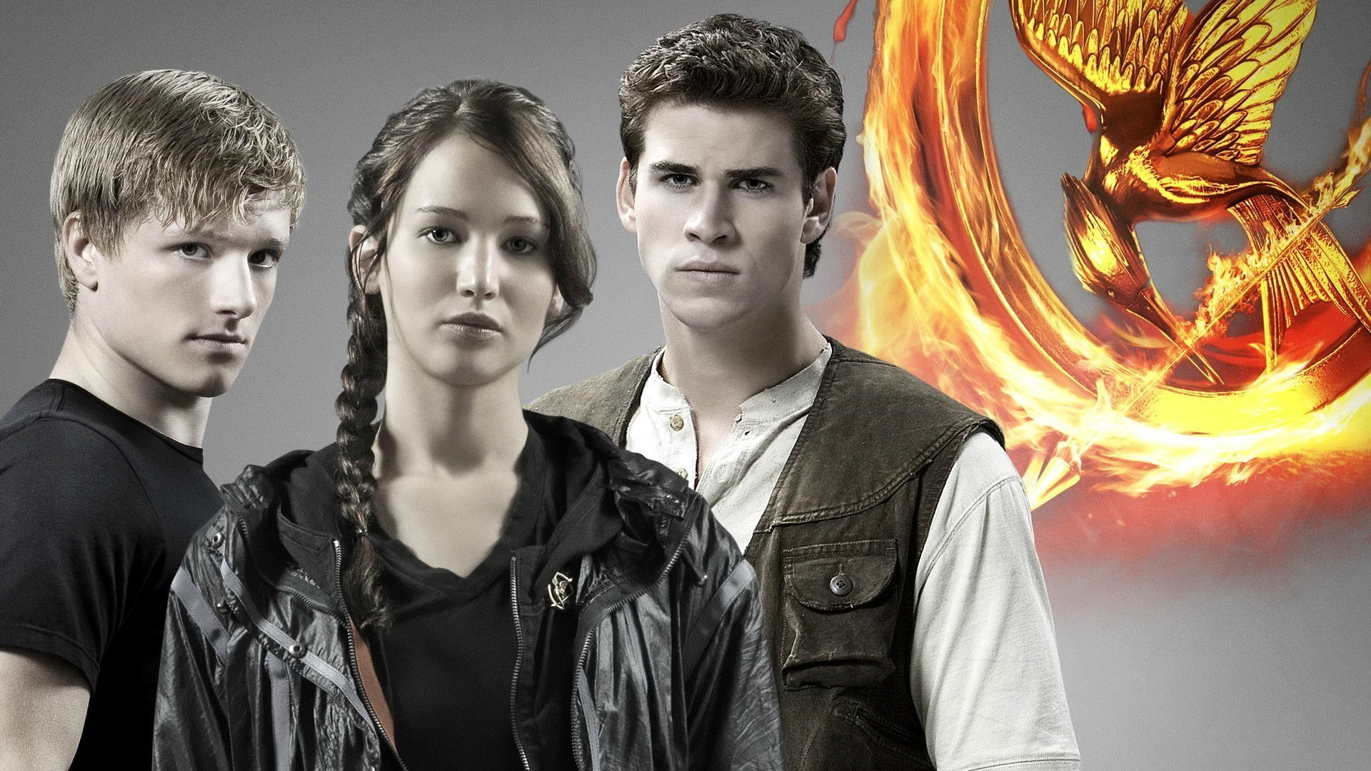 1920x1080 movies the hunger games jennifer lawrence liam hemsworth Wallpapers HD /  Desktop and Mobile Backgrounds