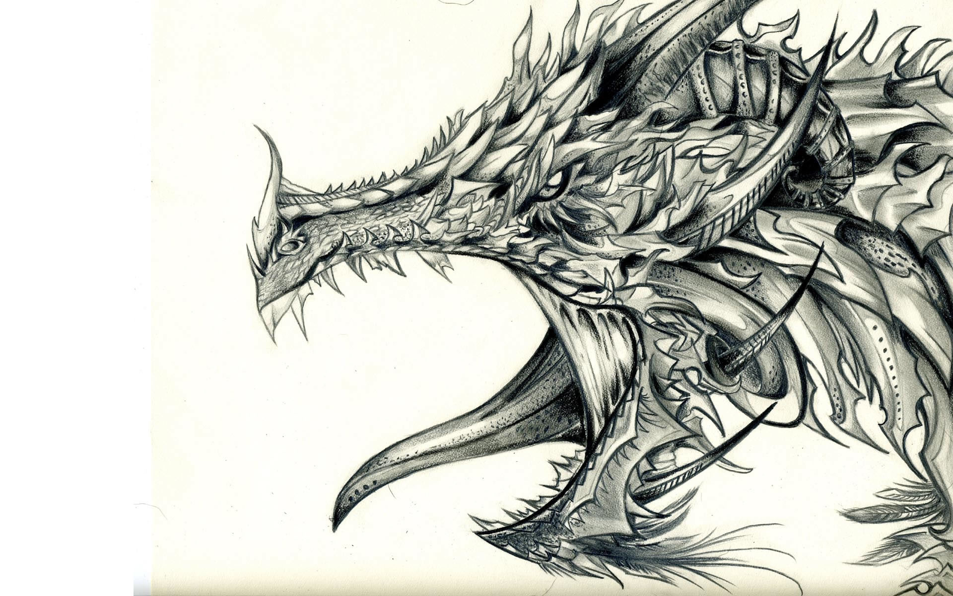 1920x1200 Images For > Cool Dragons Drawings