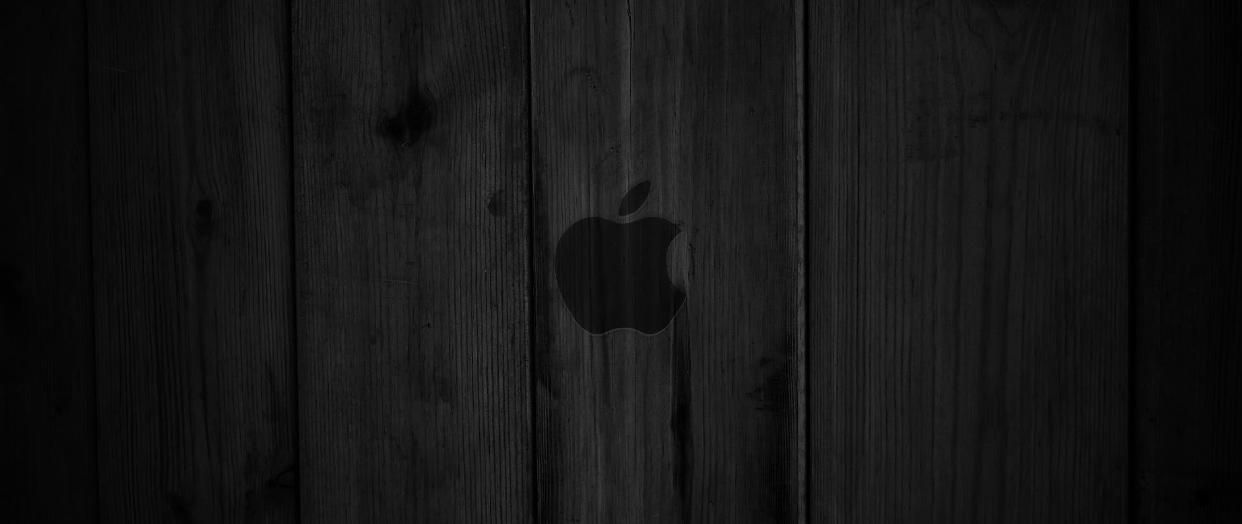 2560x1080  Wallpaper wood, dark, lines, background, apple, mac