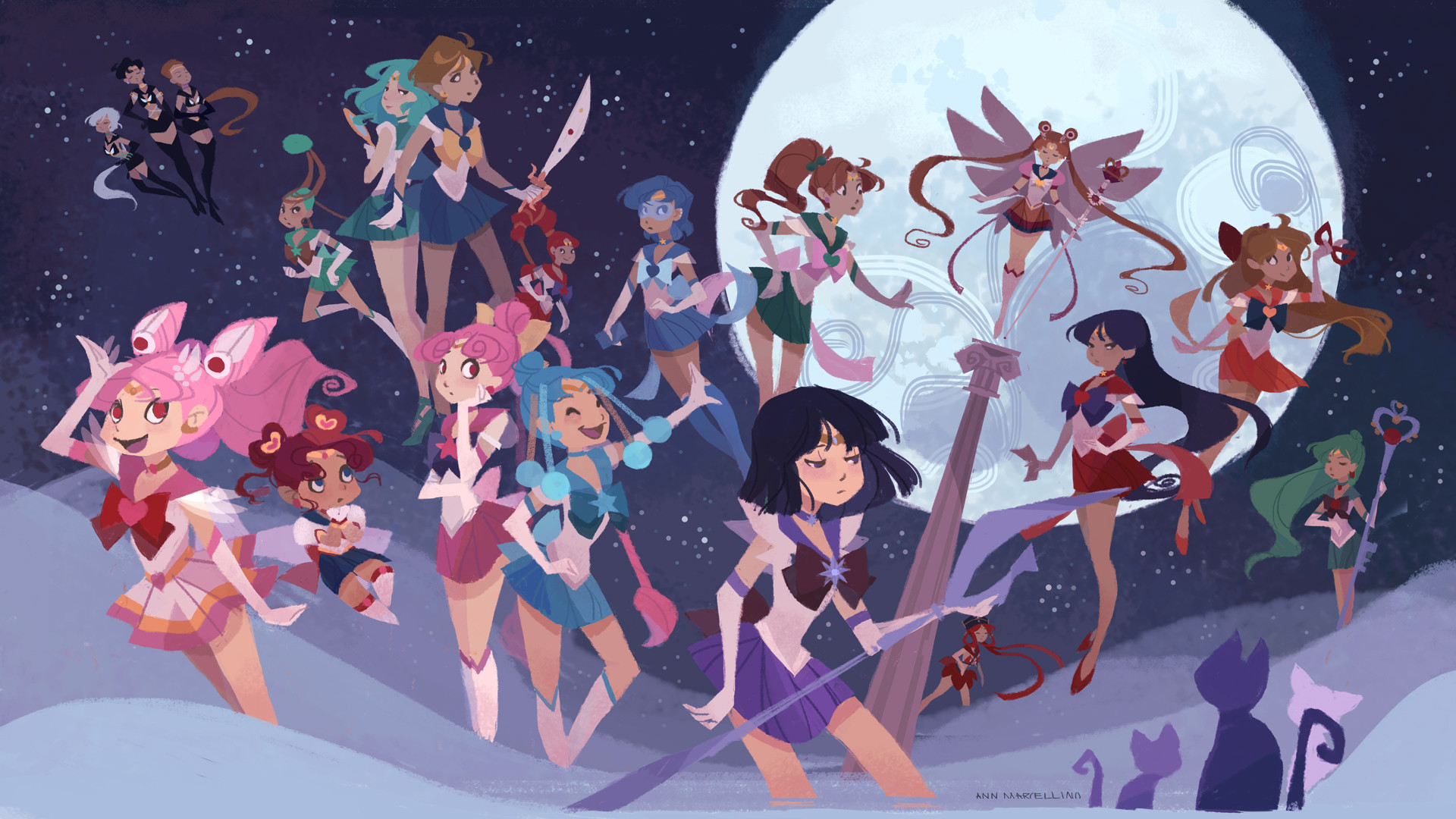 1920x1080 Sailor Soldiers Wallpapers by nna Sailor Soldiers Wallpapers by nna