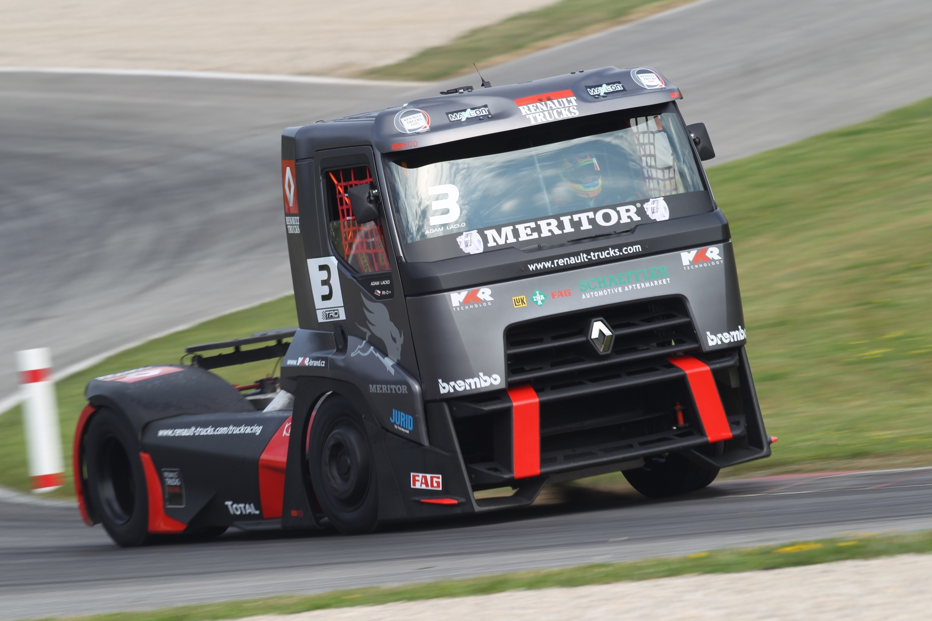 3000x2000 Semi Truck Racing | RENAULT RACING TRUCK. Cars, Machines & Technics —  Wallpaper #