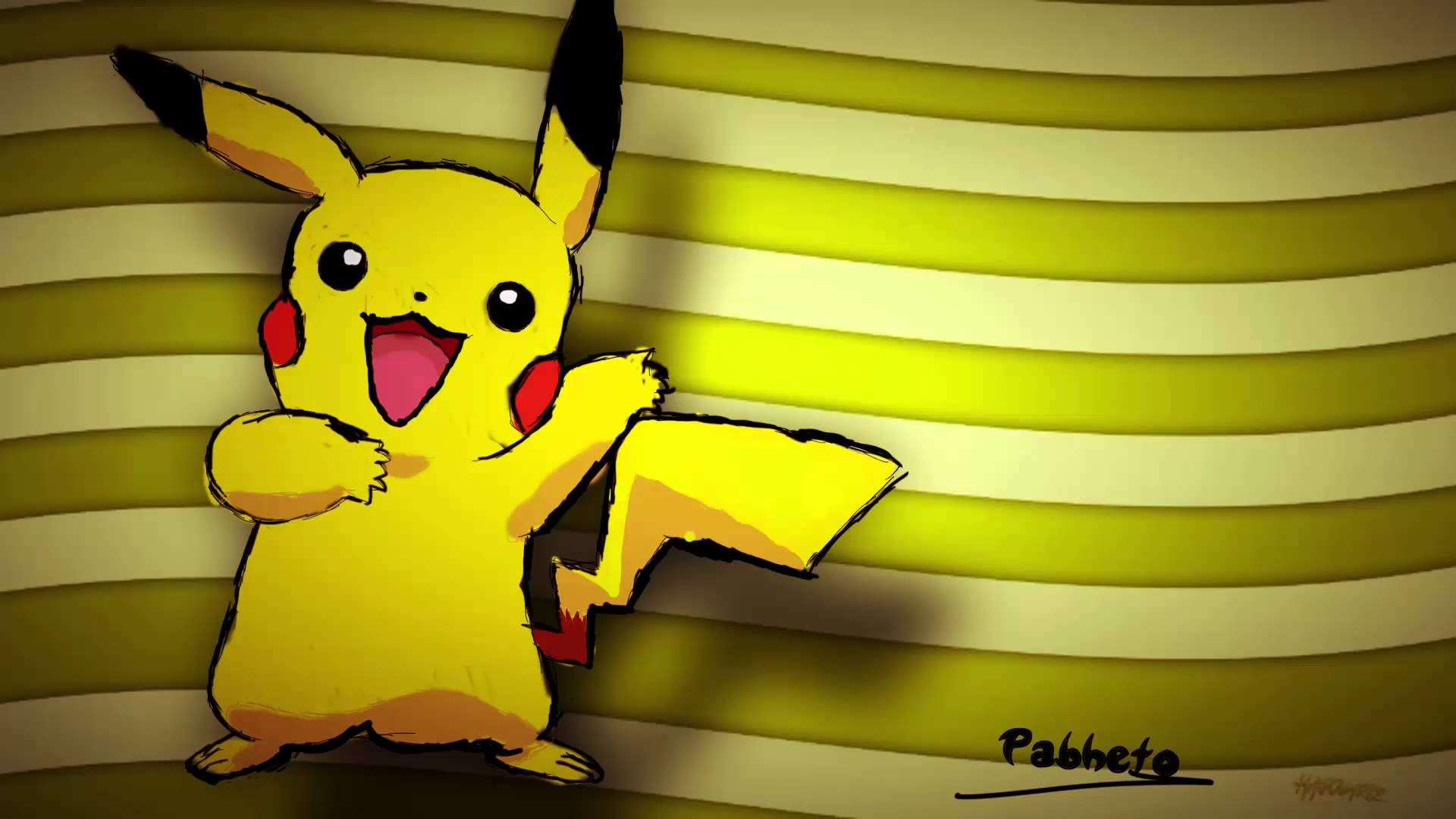 "1920x1080 ☆ Pikachu Wallpaper! ☆ | By ""{Pabhix}"" and HagouArtz! 