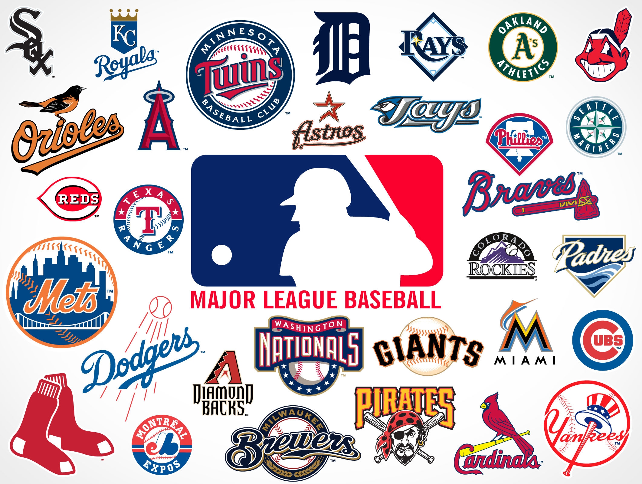2122x1600 Major League Baseball Team Logos