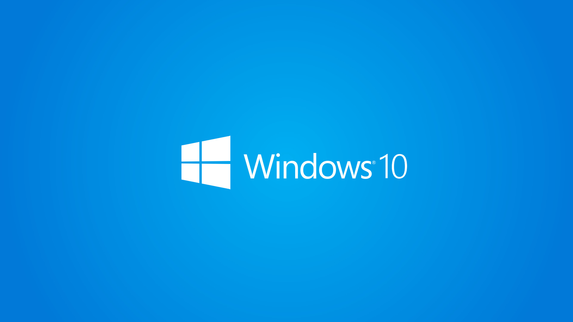 1920x1080 Windows 10 Wallpaper 1080p Full HD White Logo Blue Background