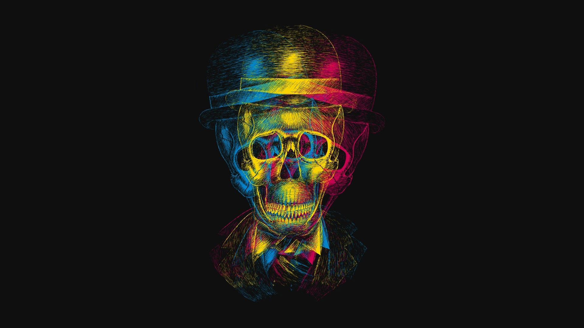 1920x1080 hd pics photos best skull danger color pencil drawing multi colored hd  quality desktop background wallpaper