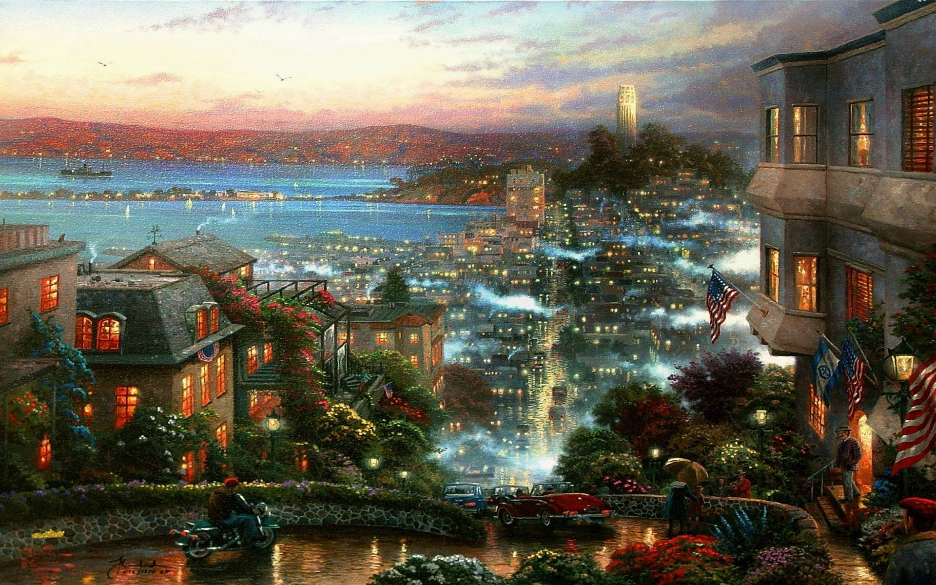 Thomas Kinkade Christmas.Thomas Kinkade Wallpapers For Desktop 64 Images