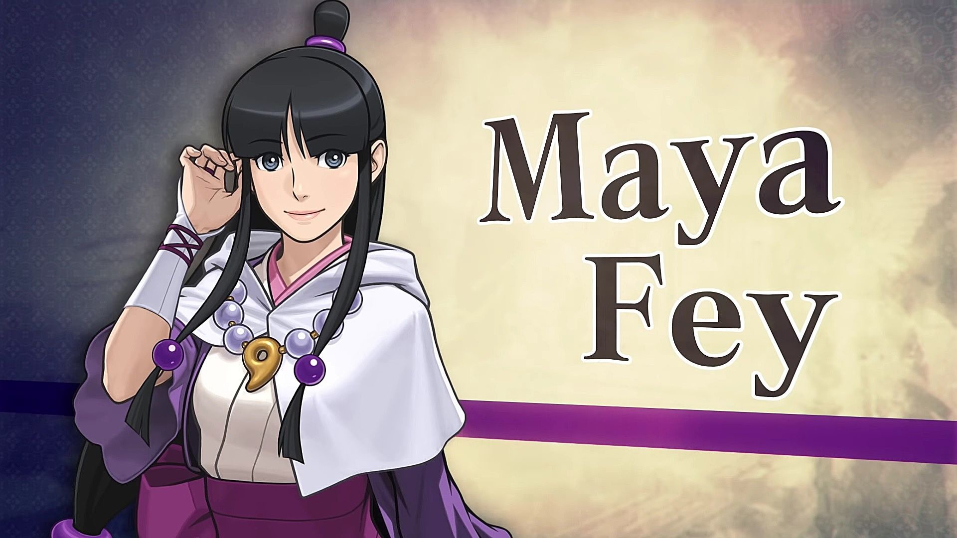 1920x1080 ... Maya returns to the Ace Attorney series with great enthusiasm. Her last  appearance was in the crossover Professor Layton vs. Phoenix Wright, where  she ...