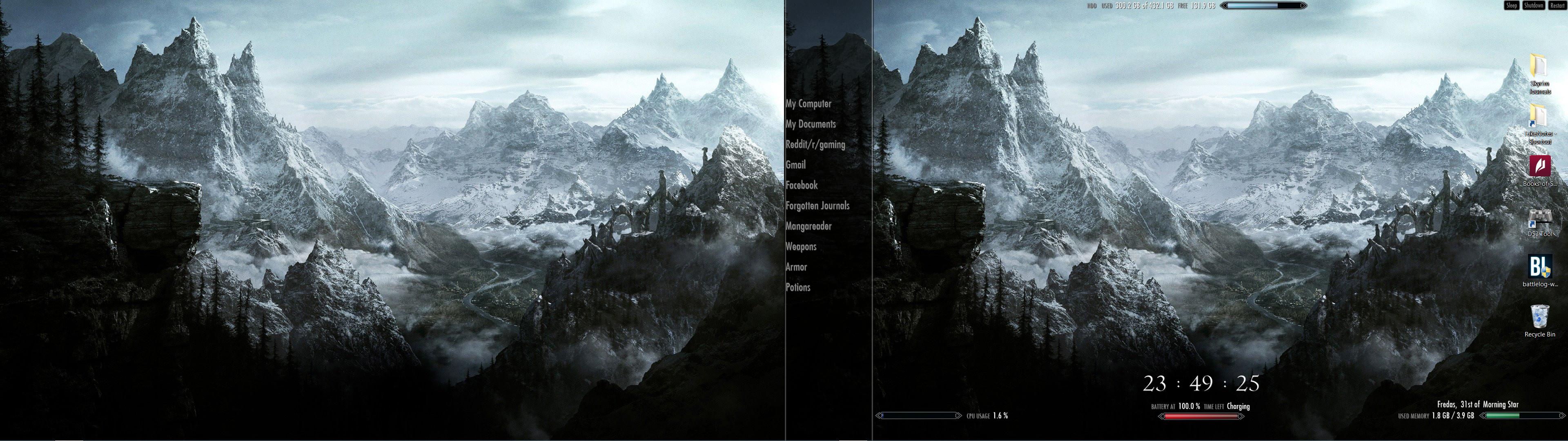 Skyrim Dual Monitor Wallpaper 39 Images