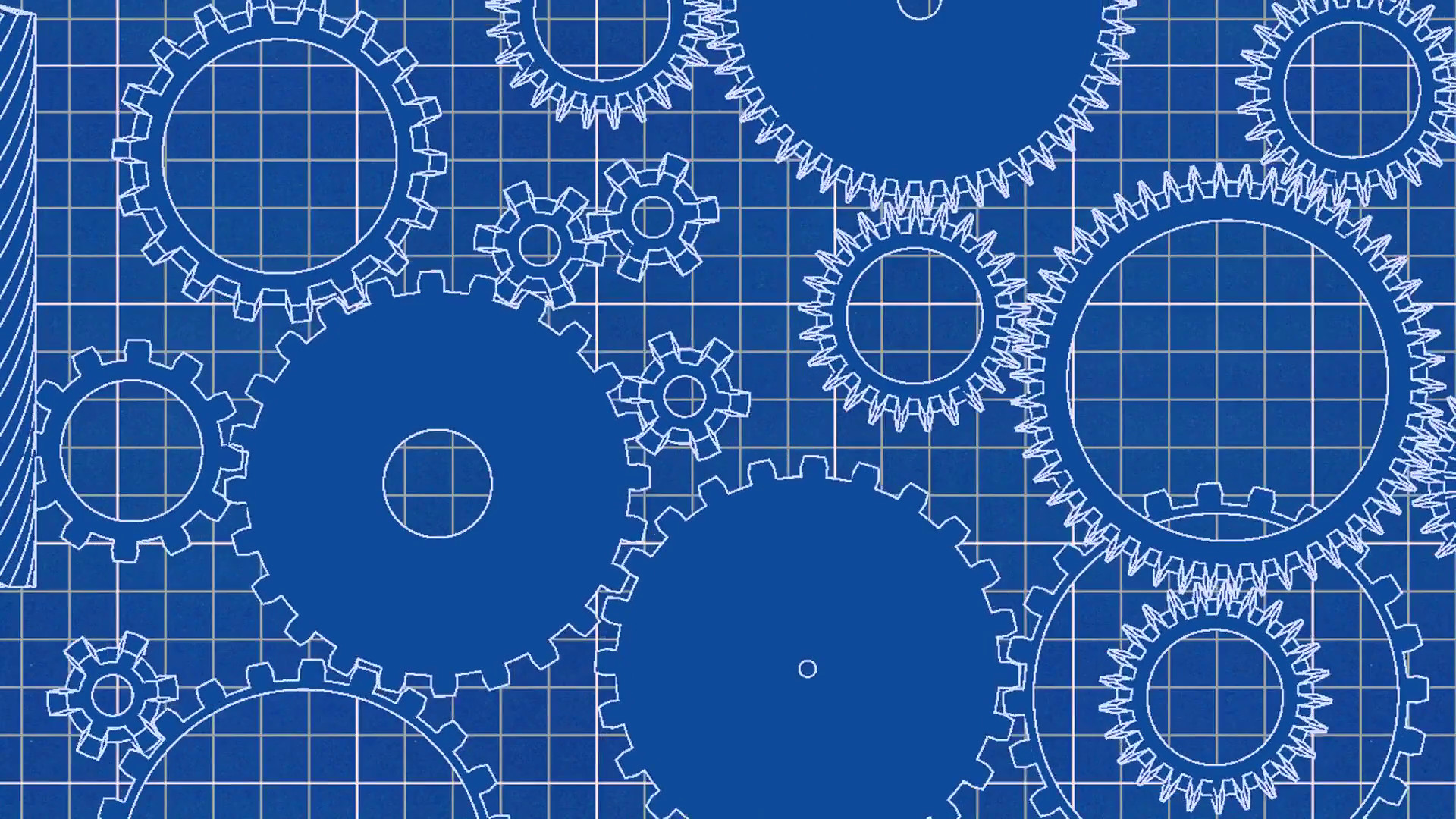 Blue print background 46 images 1920x1080 gear cogs rotating system gearbox blueprint grid mechanism motion background videoblocks malvernweather Images