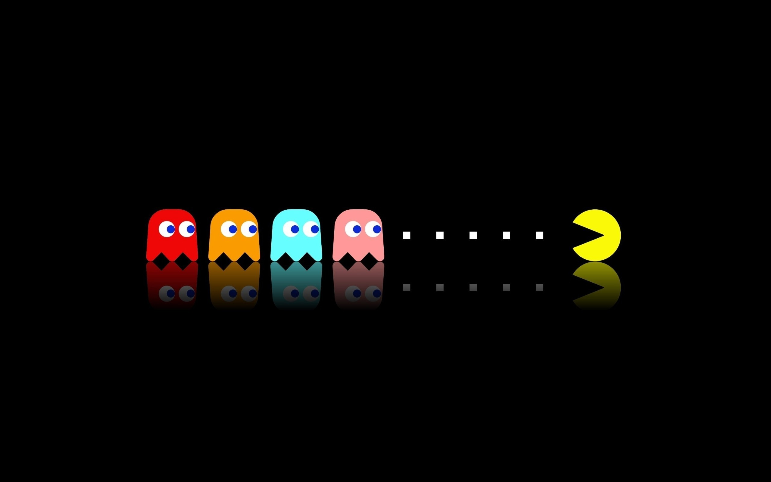 2560x1600 Pac Man, Retro Games, Video Games, Minimalism Wallpapers HD / Desktop and  Mobile Backgrounds