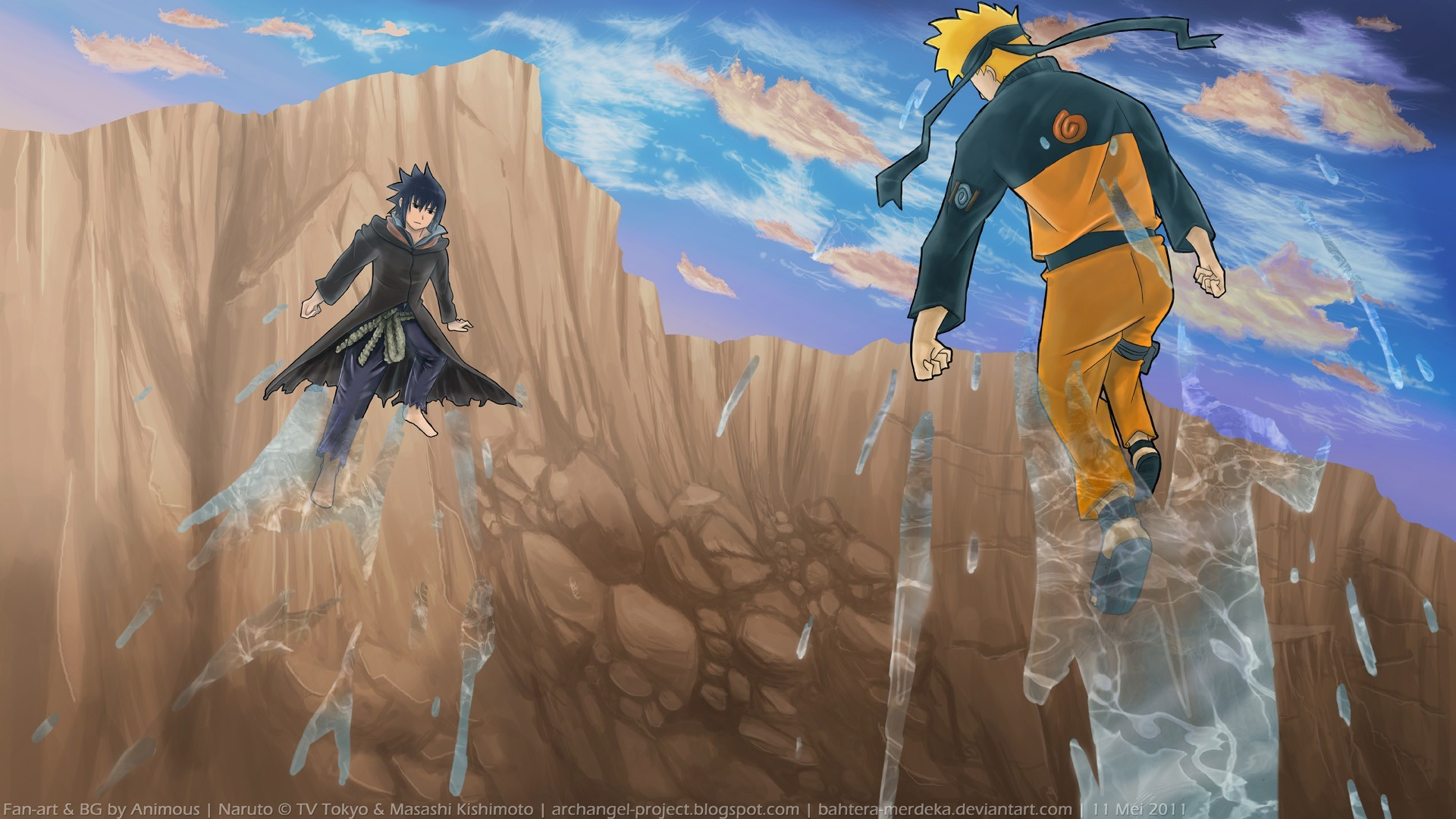 1920x1080 Naruto Sasuke Shippuden Art HD Wallpaper
