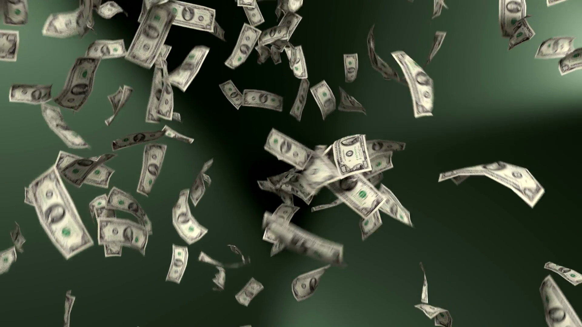 1920x1080 Money Falling Dollars Financial Win US Currency Tax Green Background Motion  Background - VideoBlocks