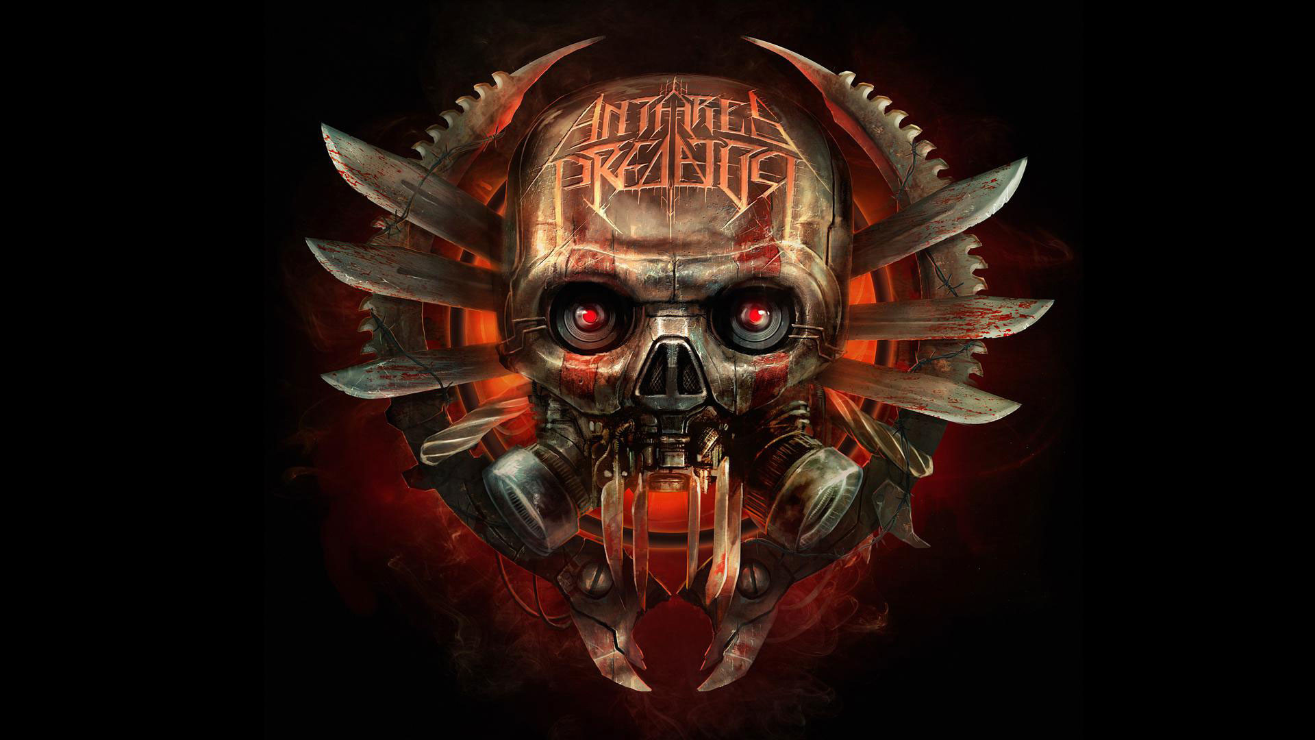 1920x1080 hd pics photos attractive skull danger red eye weapon 3d logo antares  predator metal hd quality