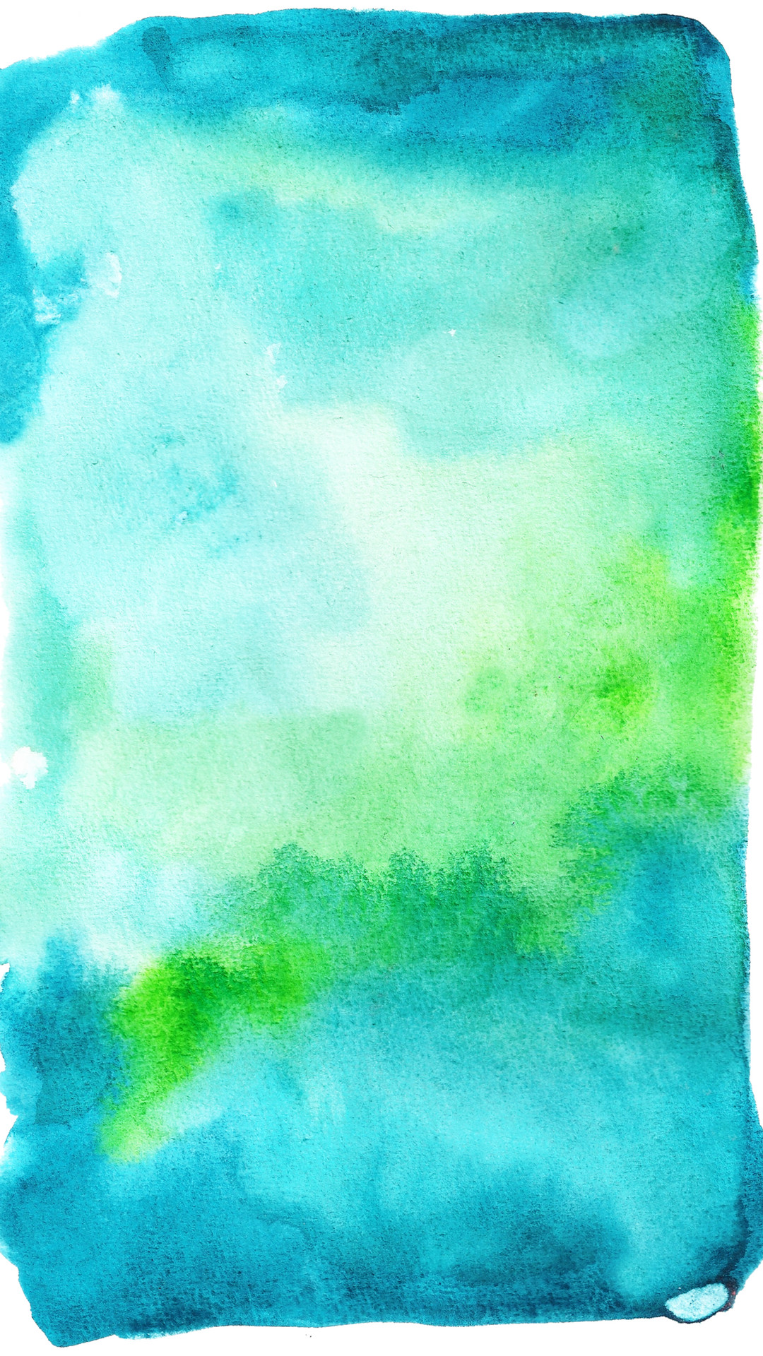 1080x1920 Click to download blue and green watercolor wallpaper.